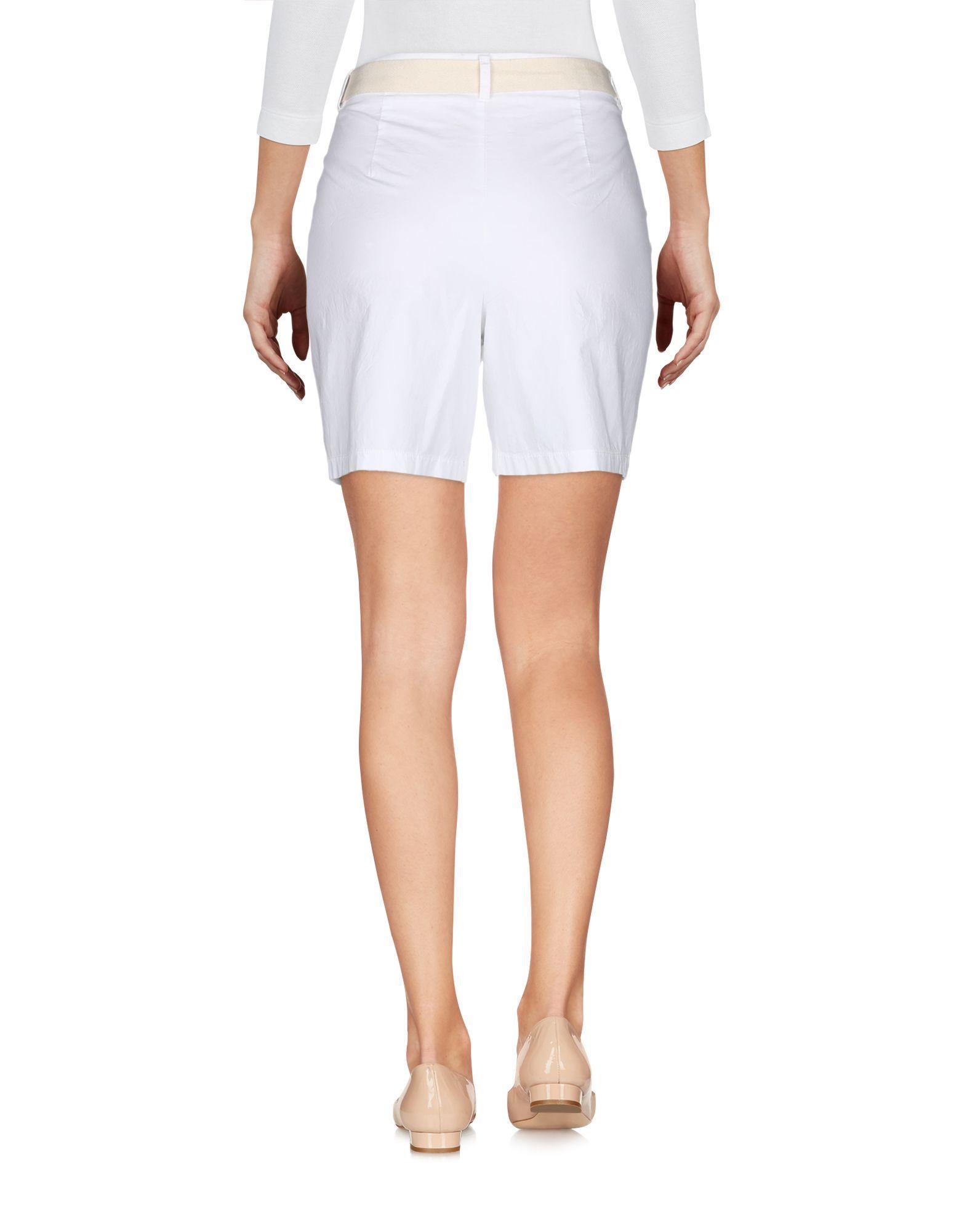 Bermuda Coton ..,merci en coloris Blanc