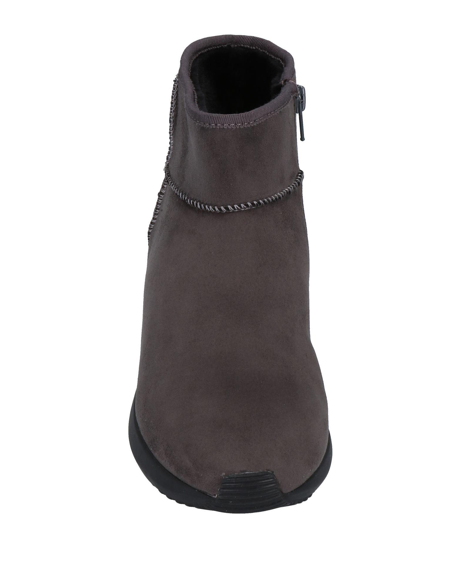 CafeNoir Suede Ankle Boots in Lead (Grey)