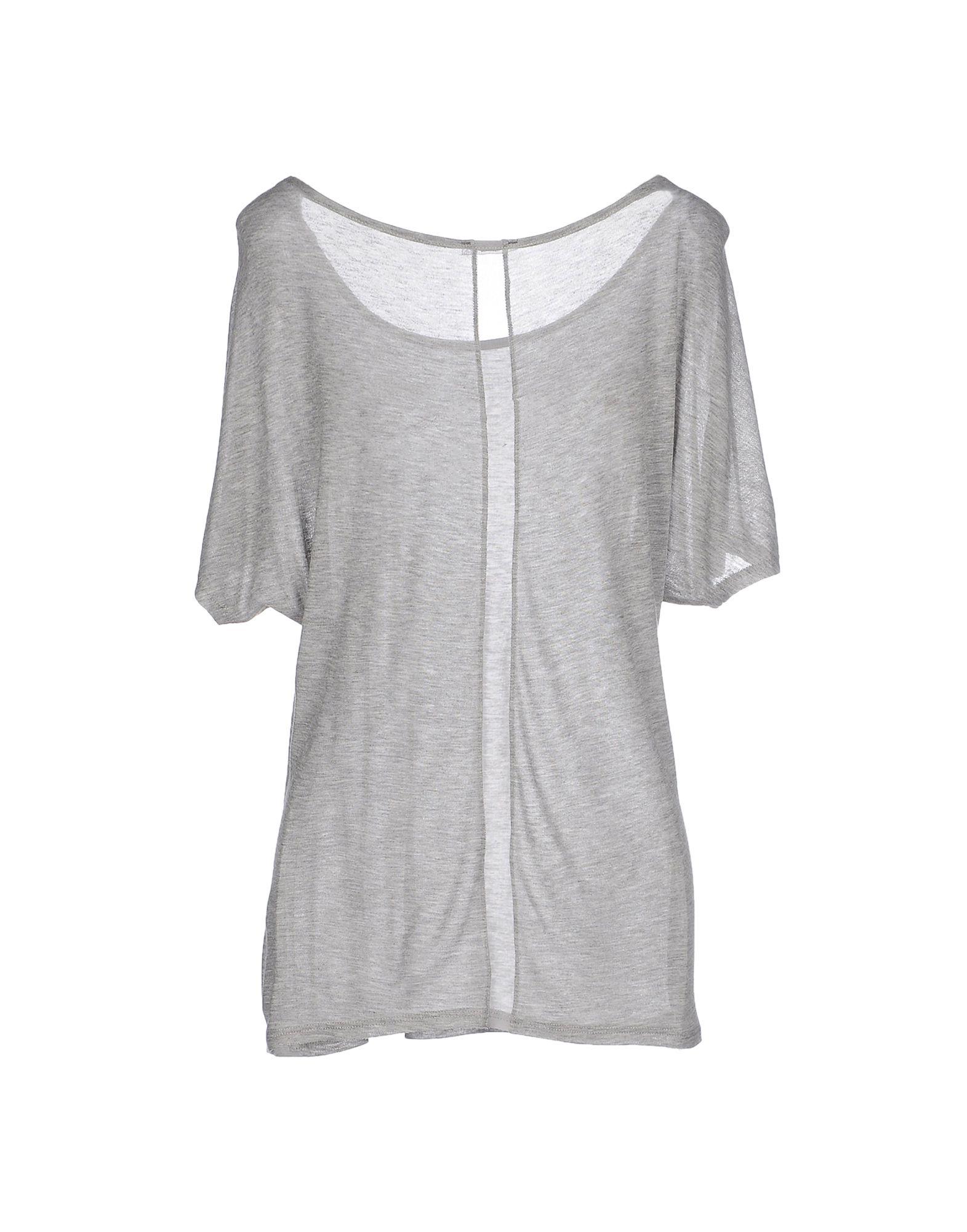 Lyst Three Dots T Shirt In Gray