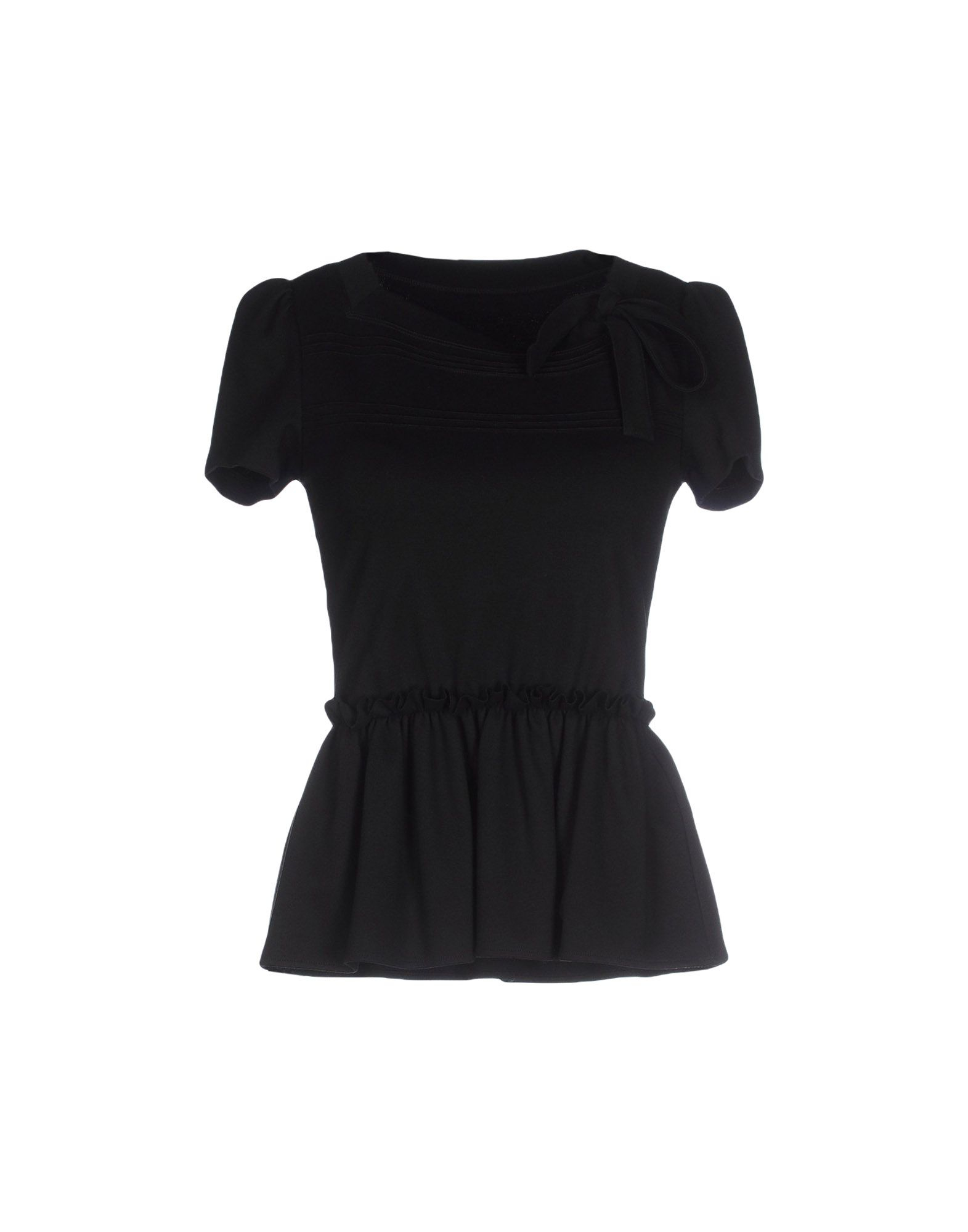 Red valentino t shirt in black save 16 lyst for Red valentino t shirt