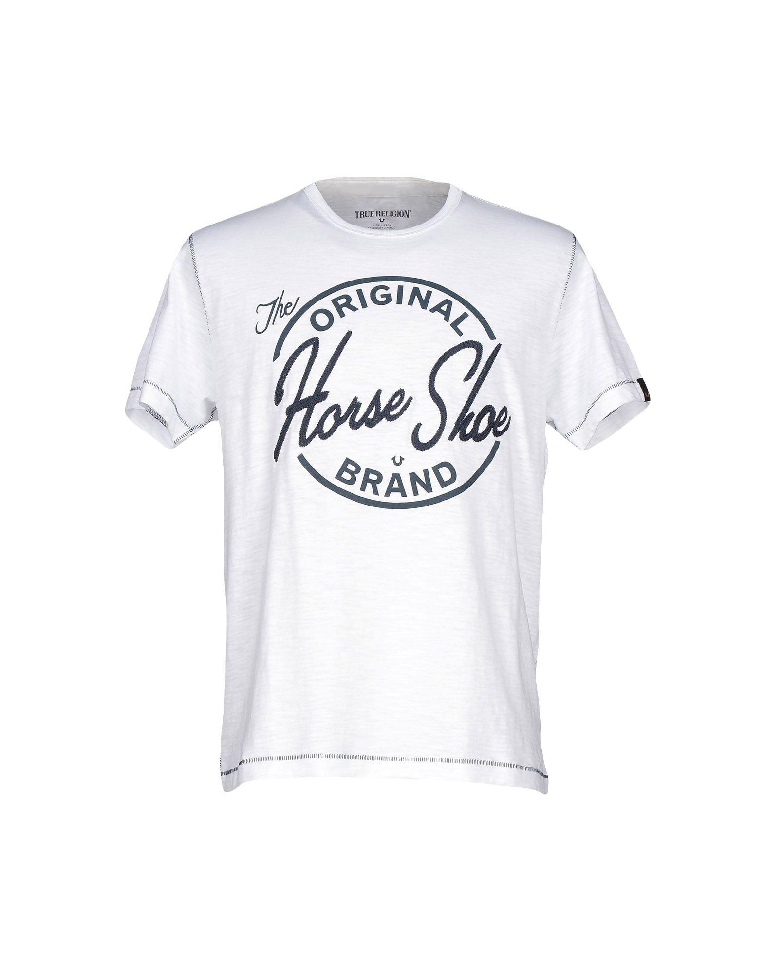 true religion t shirt in white for men lyst. Black Bedroom Furniture Sets. Home Design Ideas