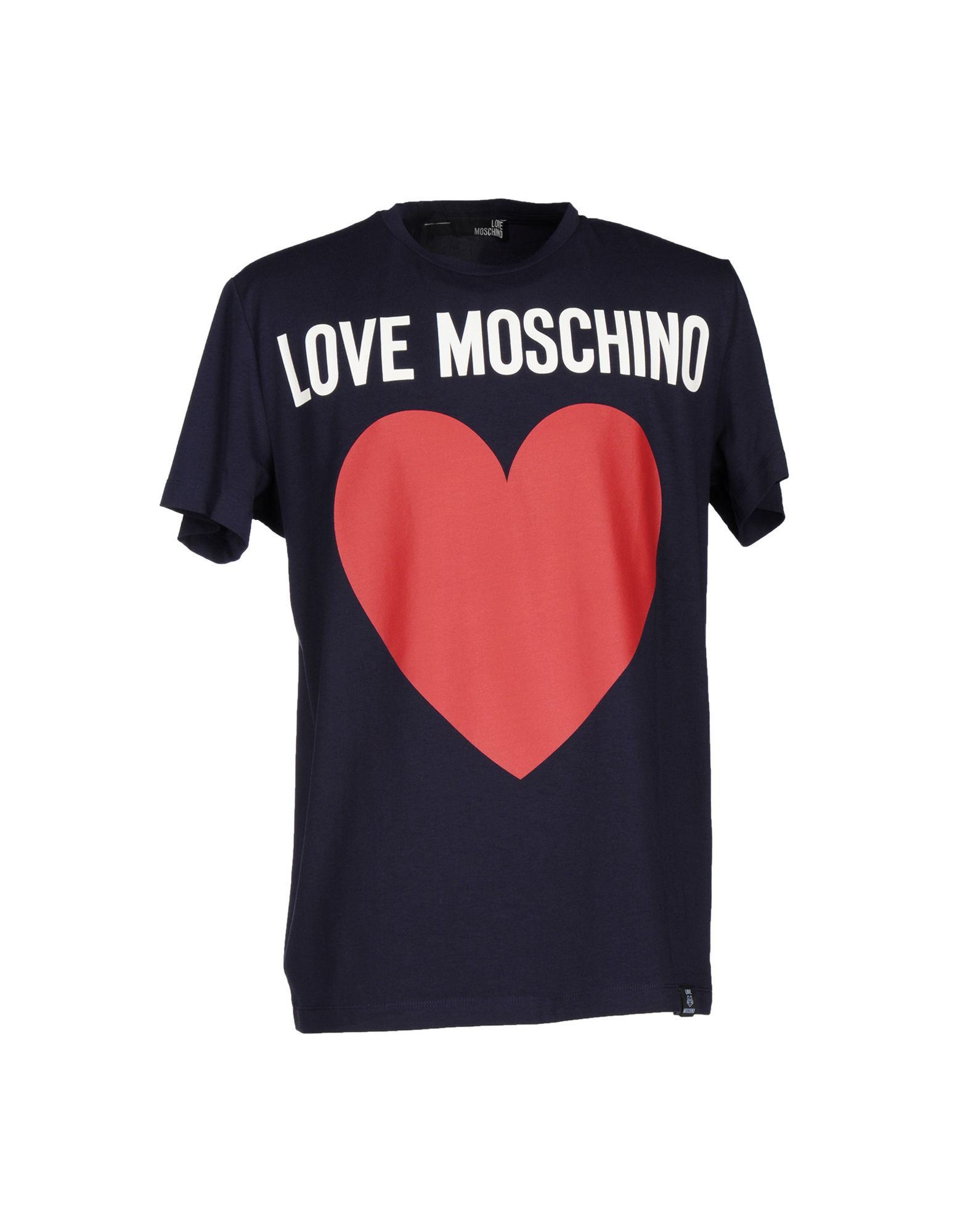 love moschino t shirt in blue for men dark blue lyst. Black Bedroom Furniture Sets. Home Design Ideas