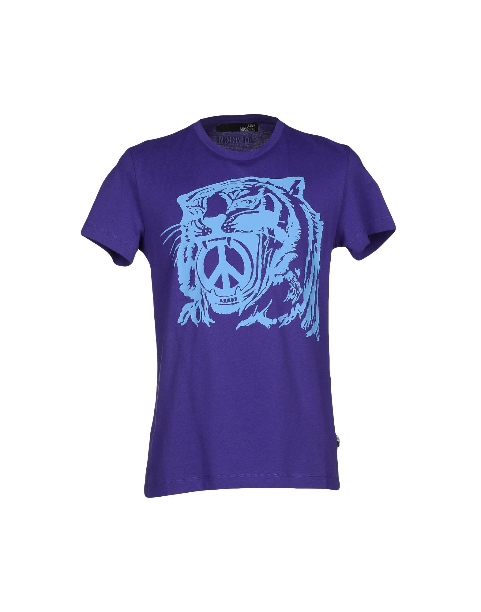 love moschino t shirt in blue for men purple lyst. Black Bedroom Furniture Sets. Home Design Ideas