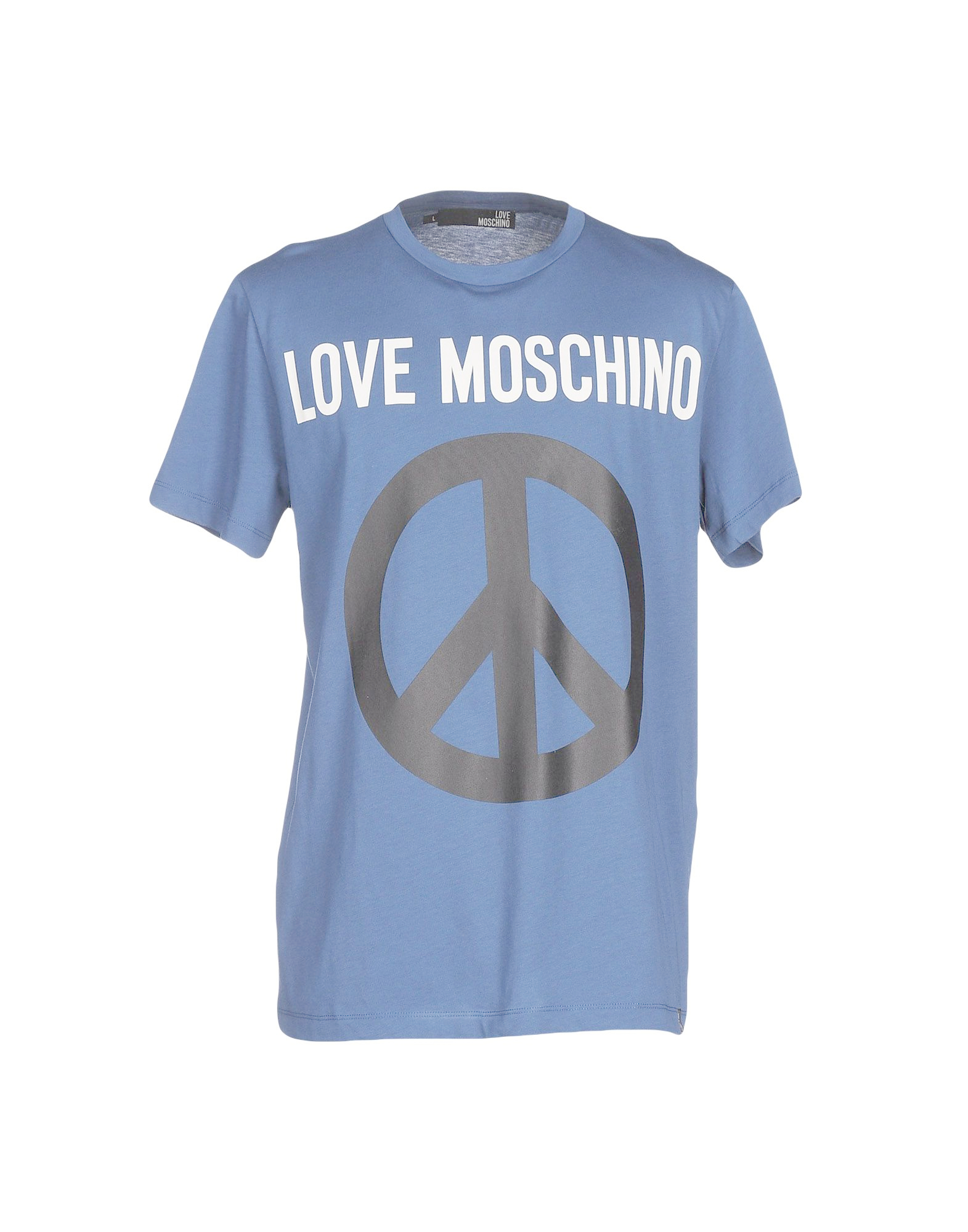 love moschino t shirt in blue for men lyst. Black Bedroom Furniture Sets. Home Design Ideas