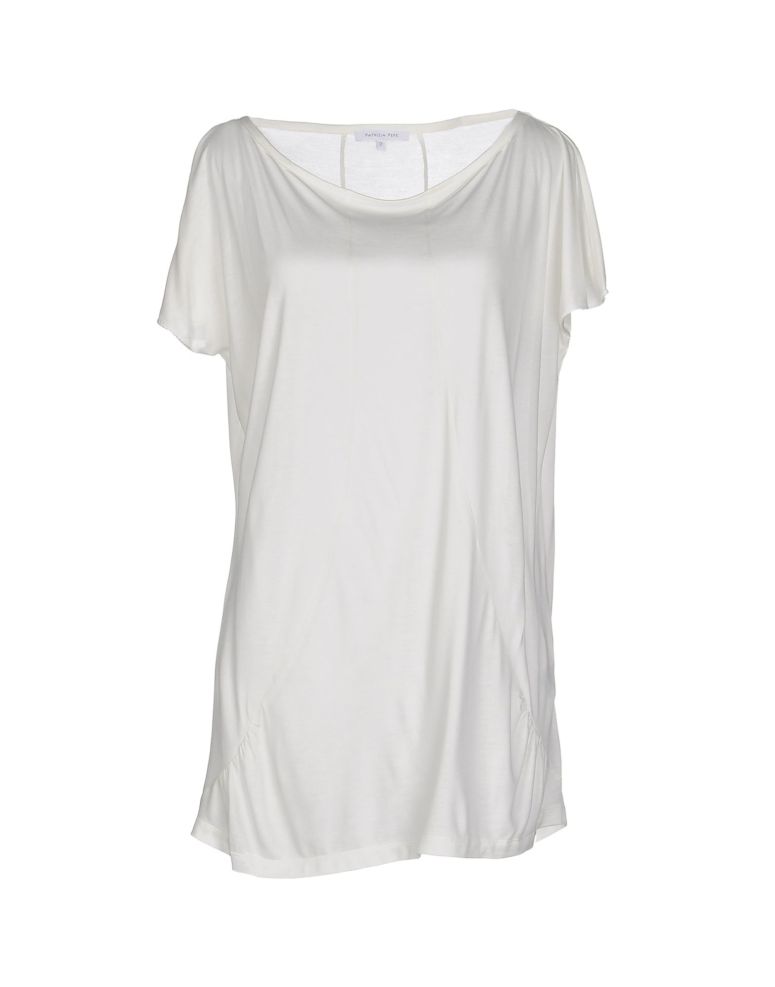 Patrizia pepe t shirt in white lyst for Thrilla in manila shirt under armour