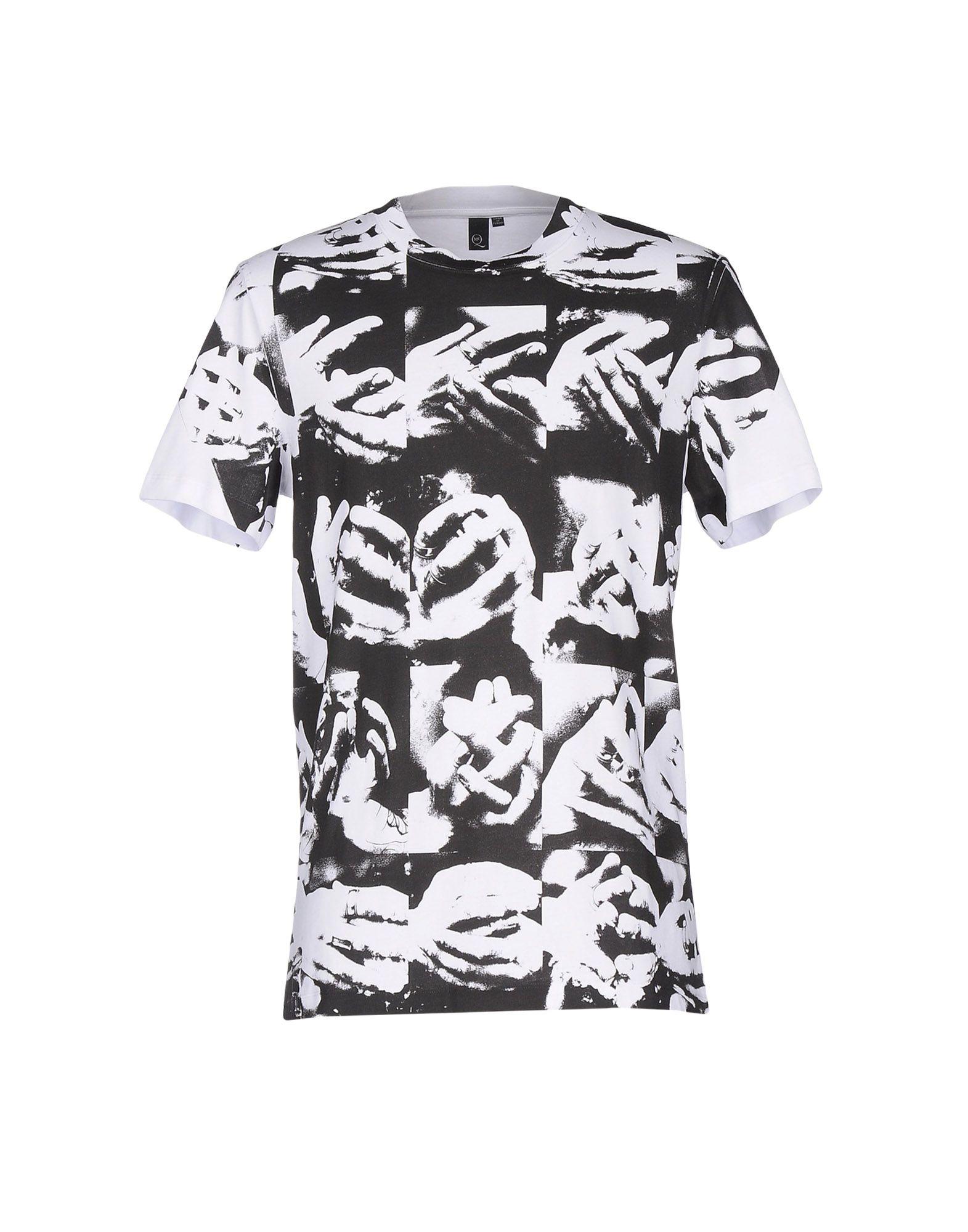 mcq multi hand print tshirt in black for men lyst