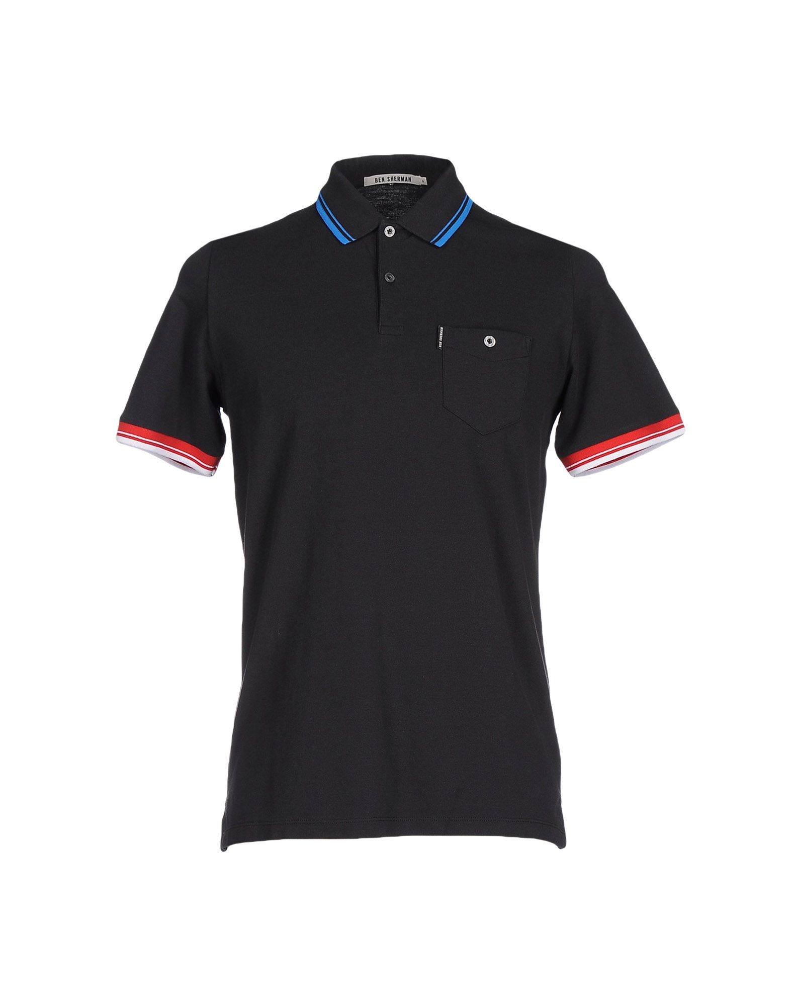 ben sherman polo shirt in black for men lyst