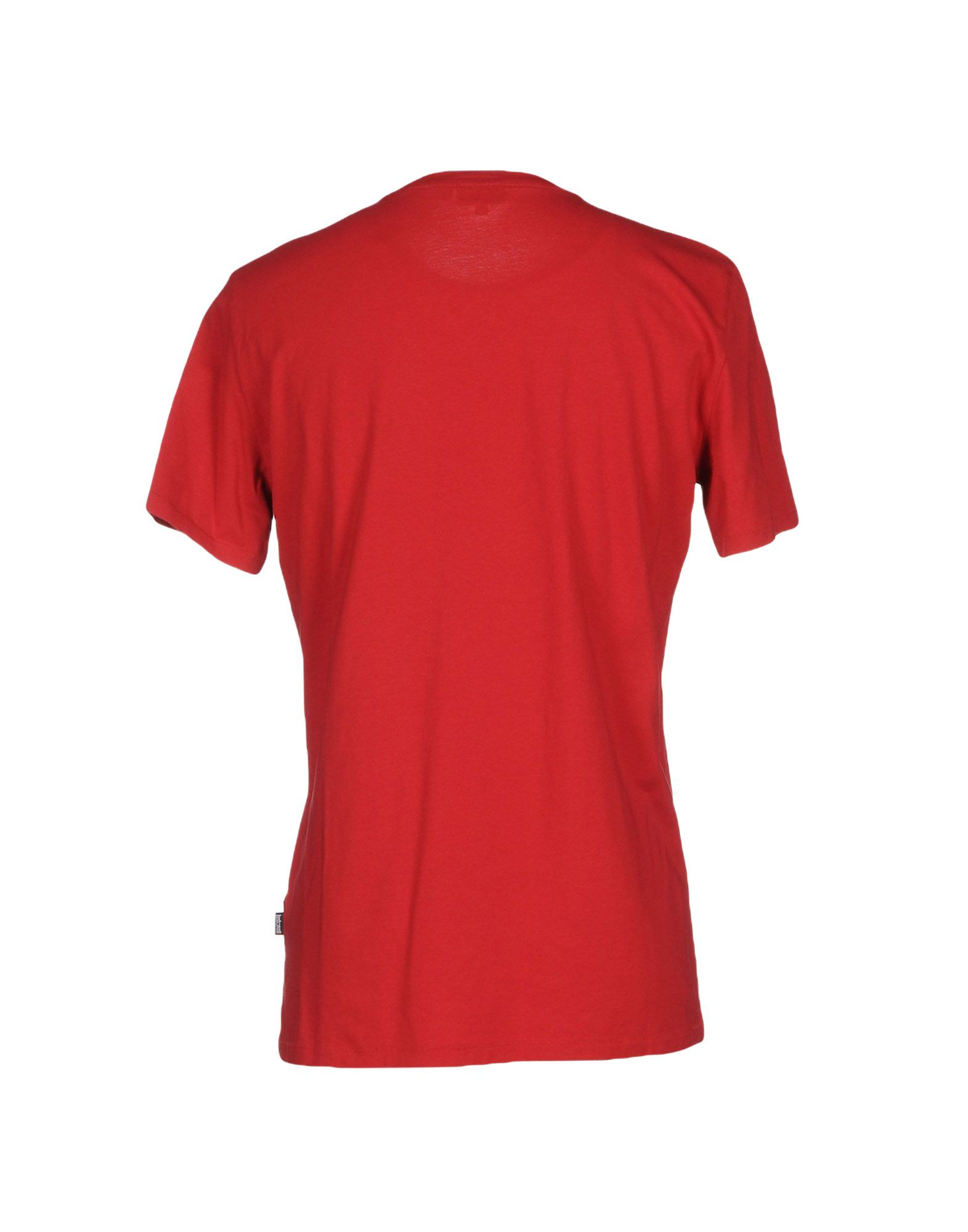 Just cavalli t shirt in red for men lyst for Lands end logo shirts