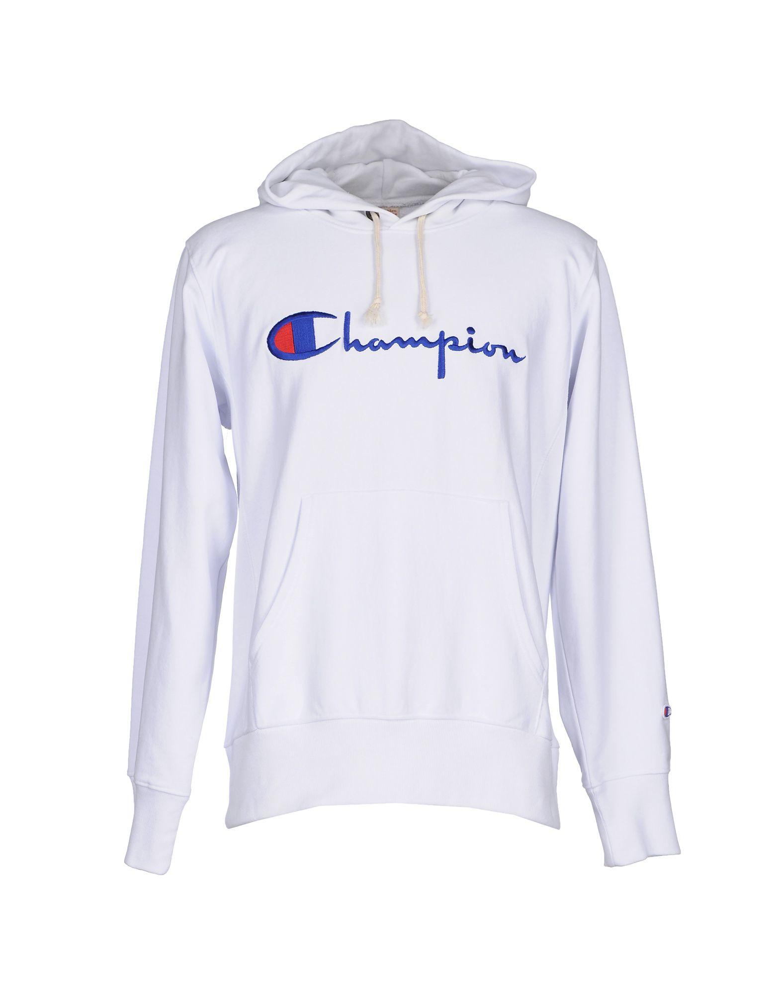 Champion Sweatshirt in White for Men | Lyst