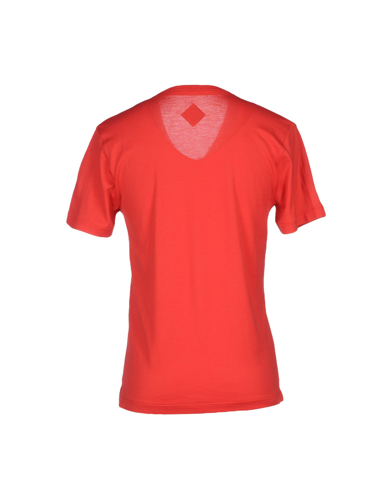 Lyst billionaire t shirt in red for men for Lands end logo shirts