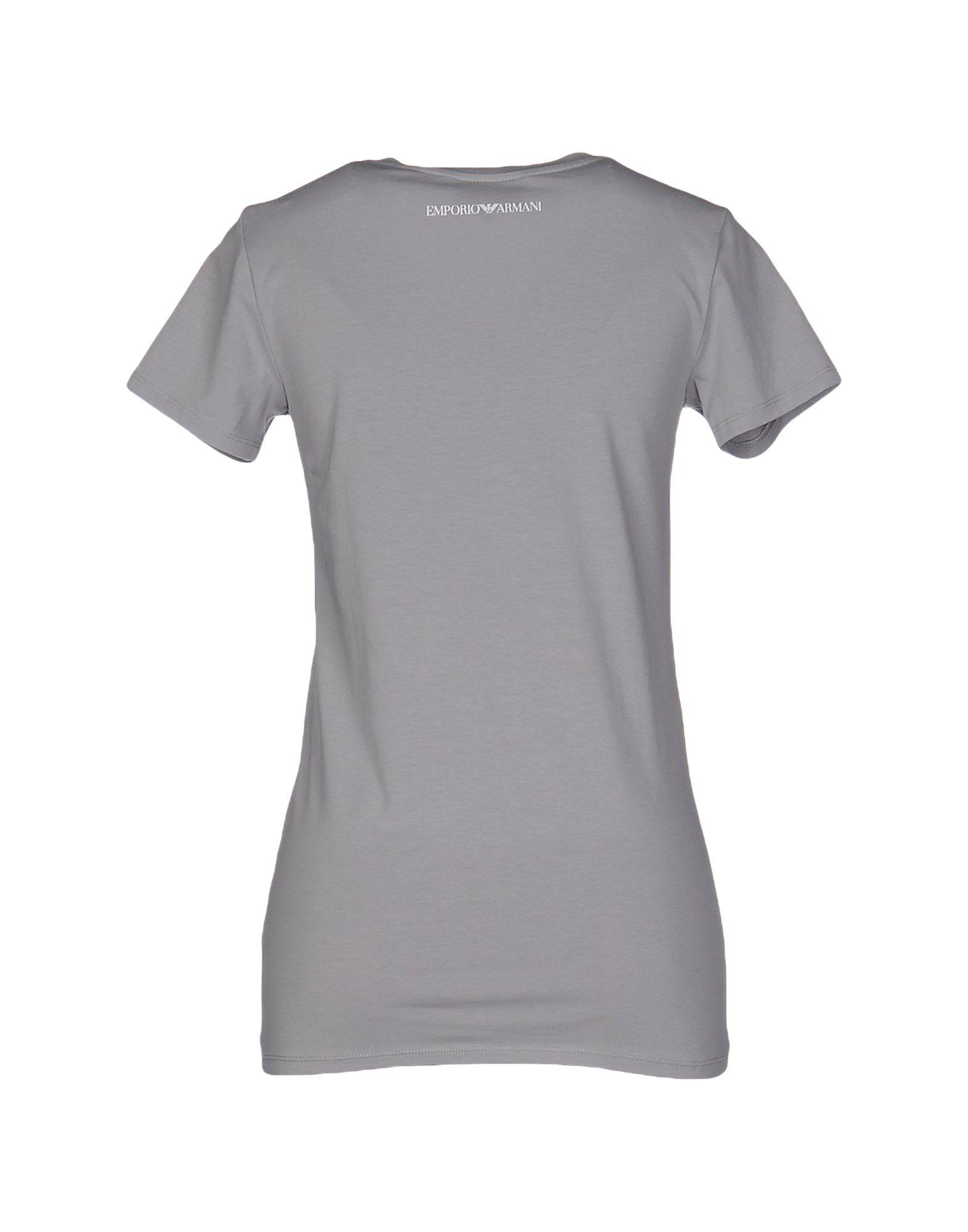 emporio armani t shirt in gray lyst. Black Bedroom Furniture Sets. Home Design Ideas