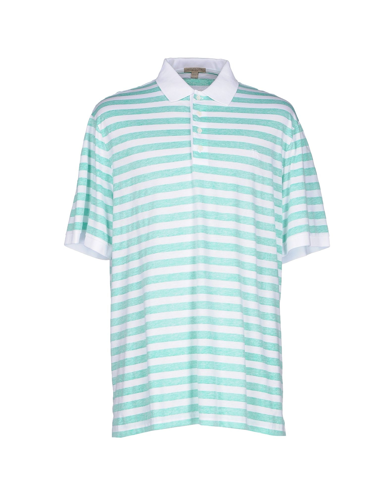 Lyst burberry brit polo shirt in green for men for Burberry brit green plaid shirt