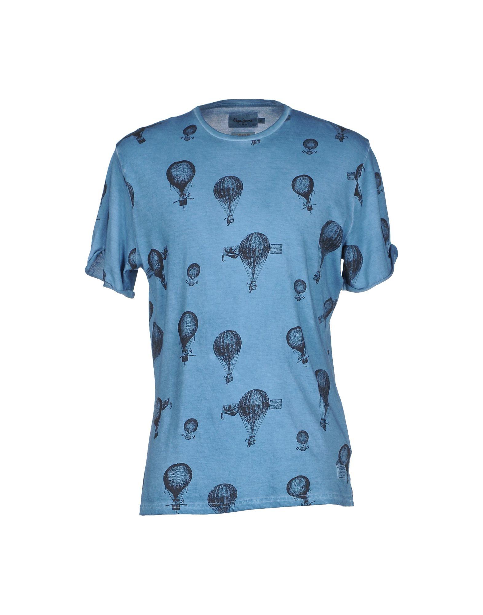 pepe jeans t shirt in blue for men pastel blue lyst. Black Bedroom Furniture Sets. Home Design Ideas