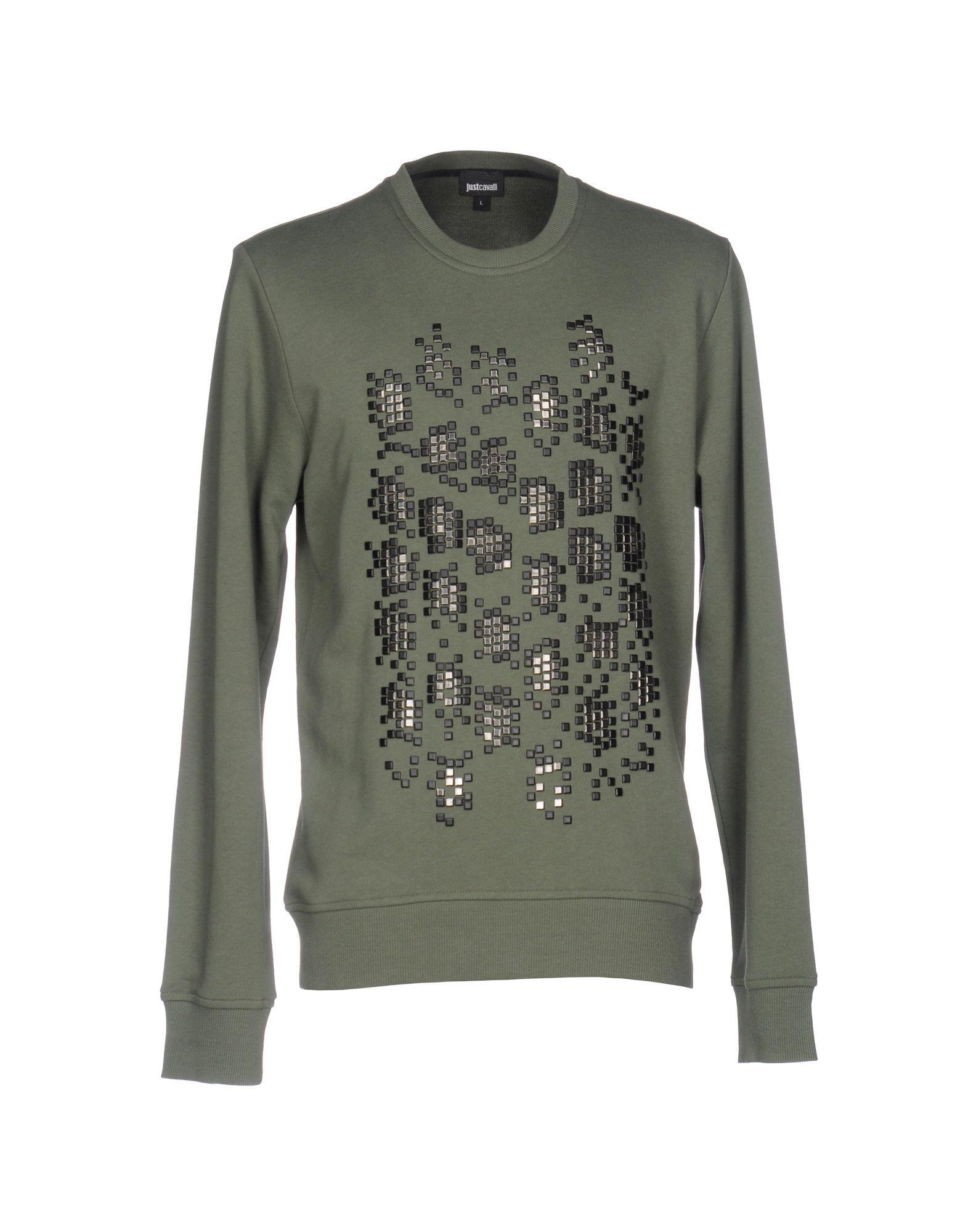 Just Cavalli Sweatshirt in Green for Men