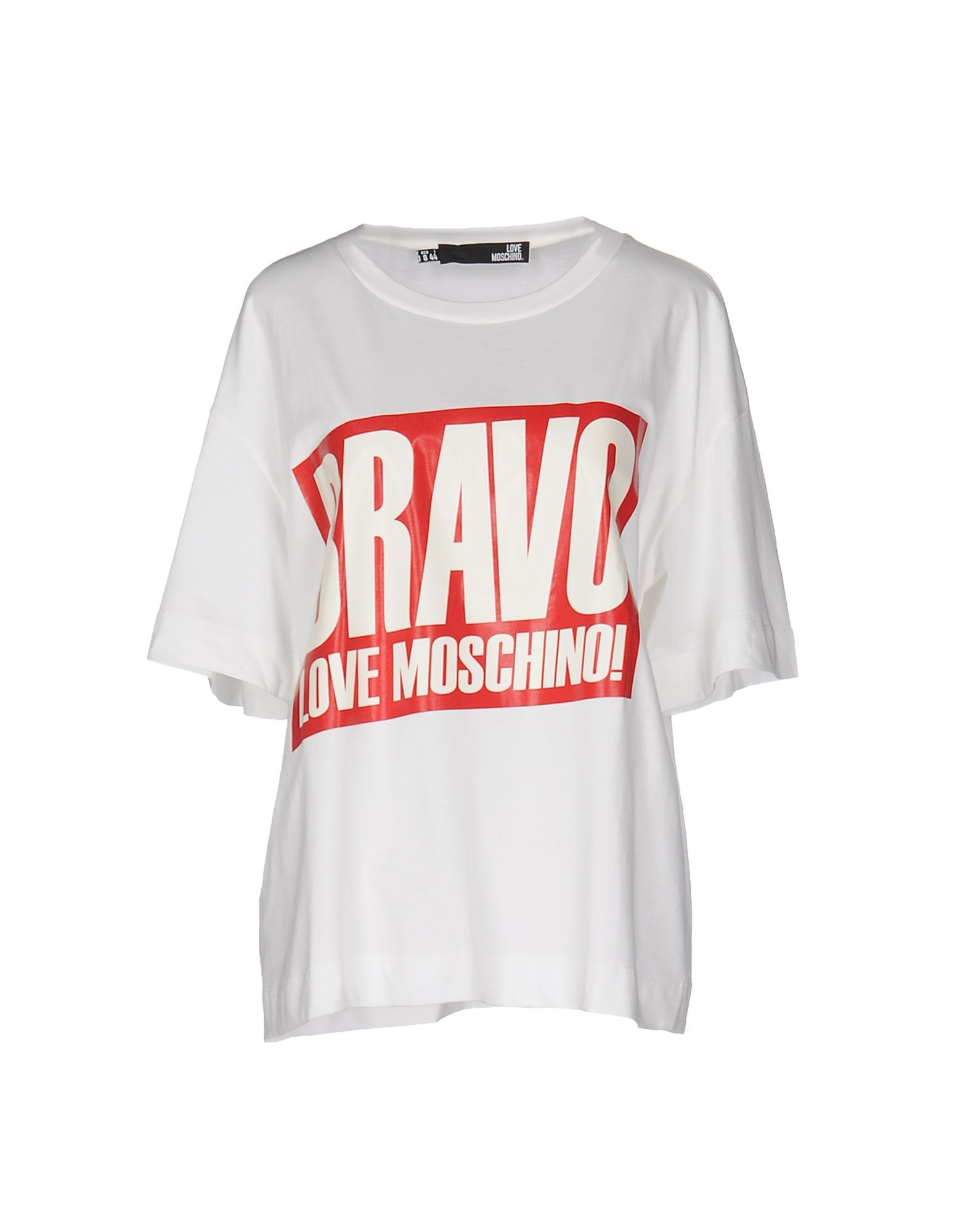 love moschino t shirt in multicolor white lyst. Black Bedroom Furniture Sets. Home Design Ideas