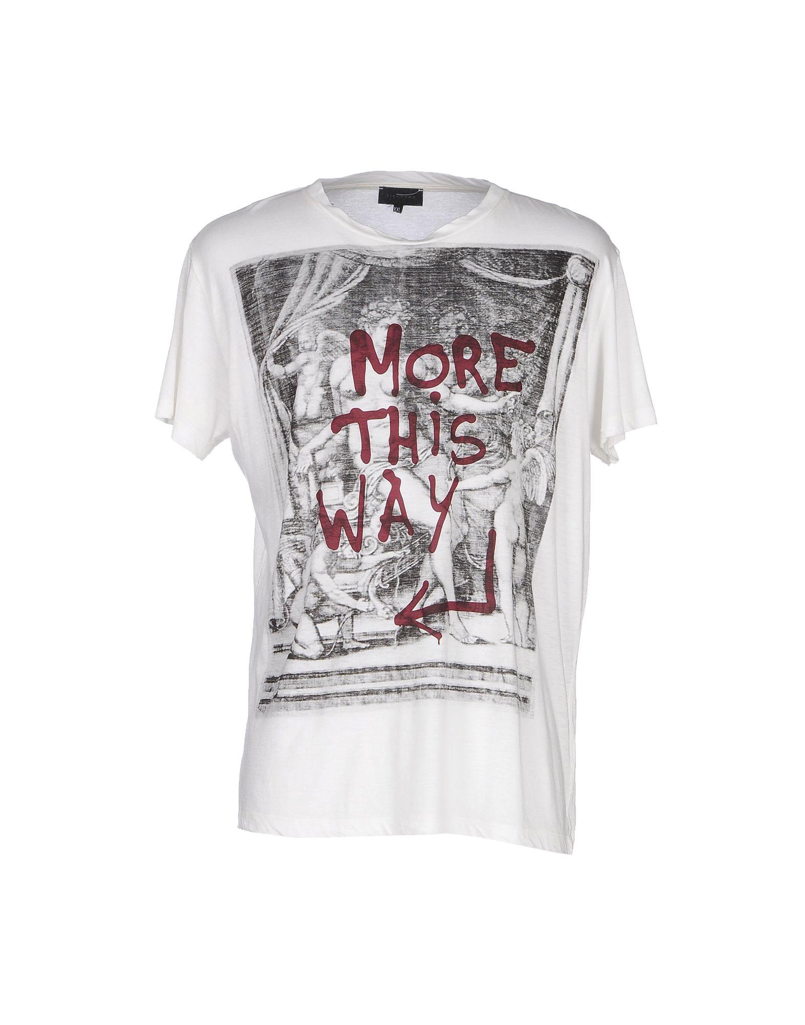 Lyst john richmond t shirt in white for men for T shirt printing richmond va