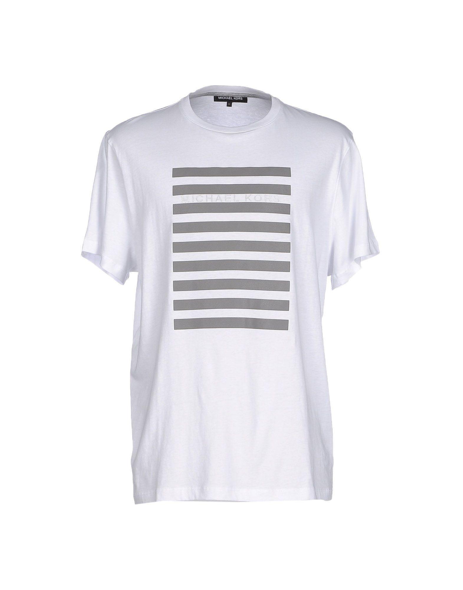 michael kors t shirt in white for men lyst. Black Bedroom Furniture Sets. Home Design Ideas