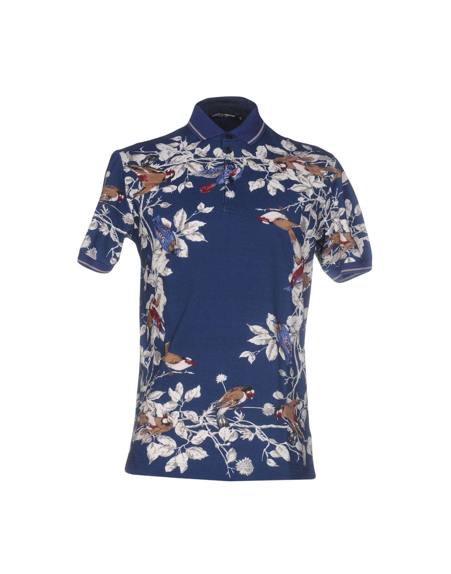 d163ce9c3 Lyst - Dolce & Gabbana Polo Shirt in Blue for Men