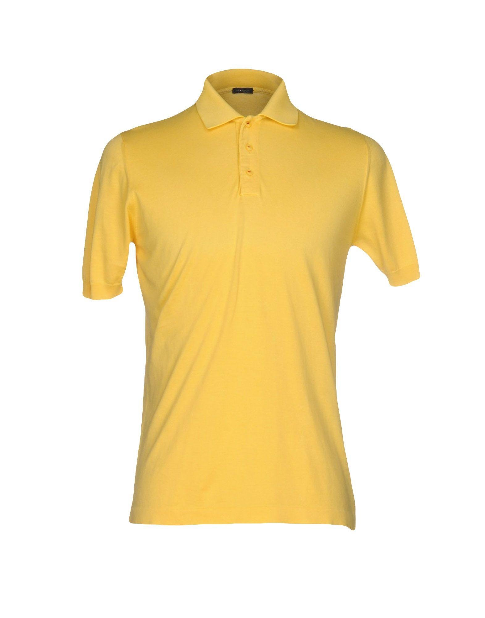 Lyst kiton polo shirt in yellow for men for Bear river workwear shirts