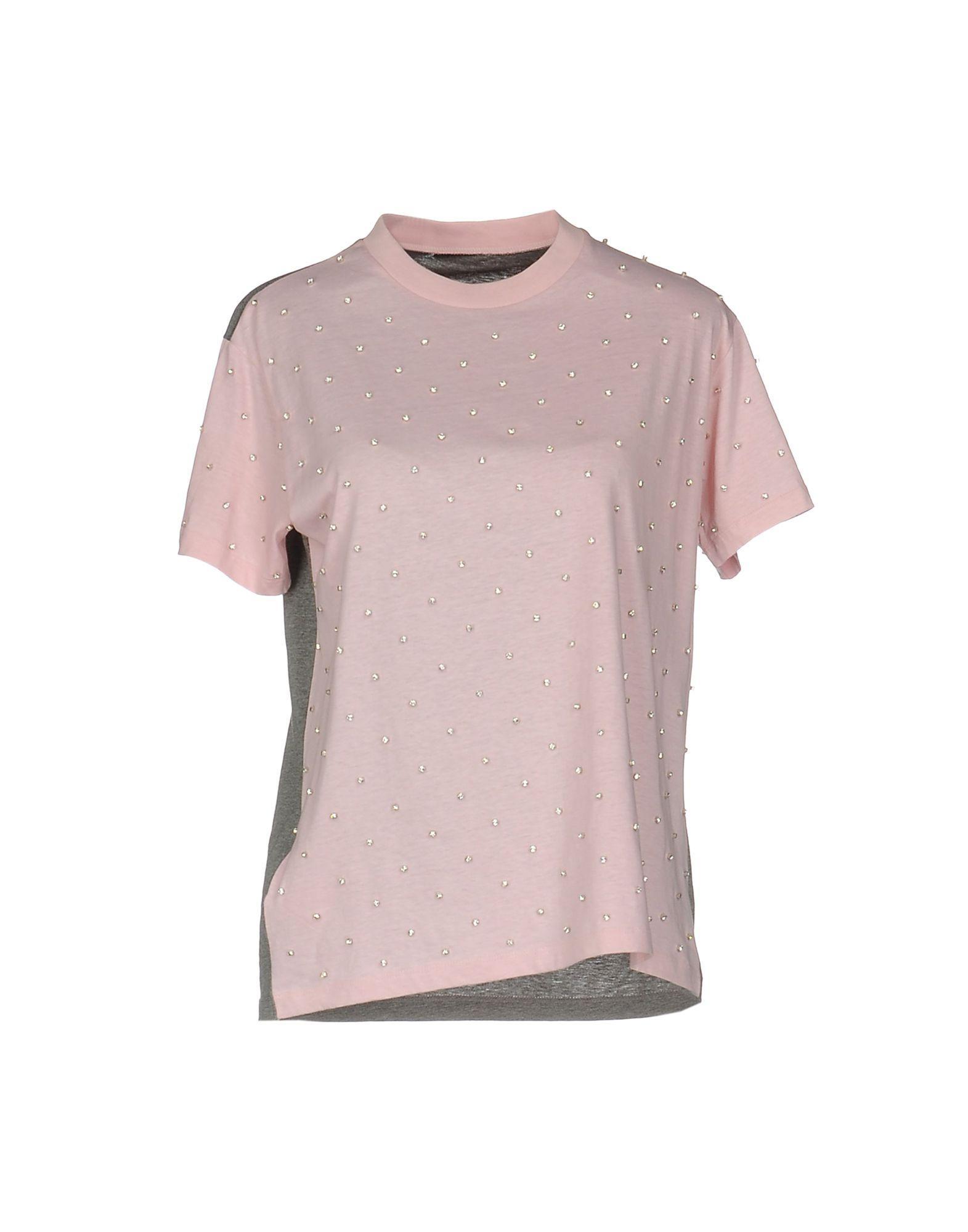 Lyst miu miu t shirt in pink for Miu miu t shirt