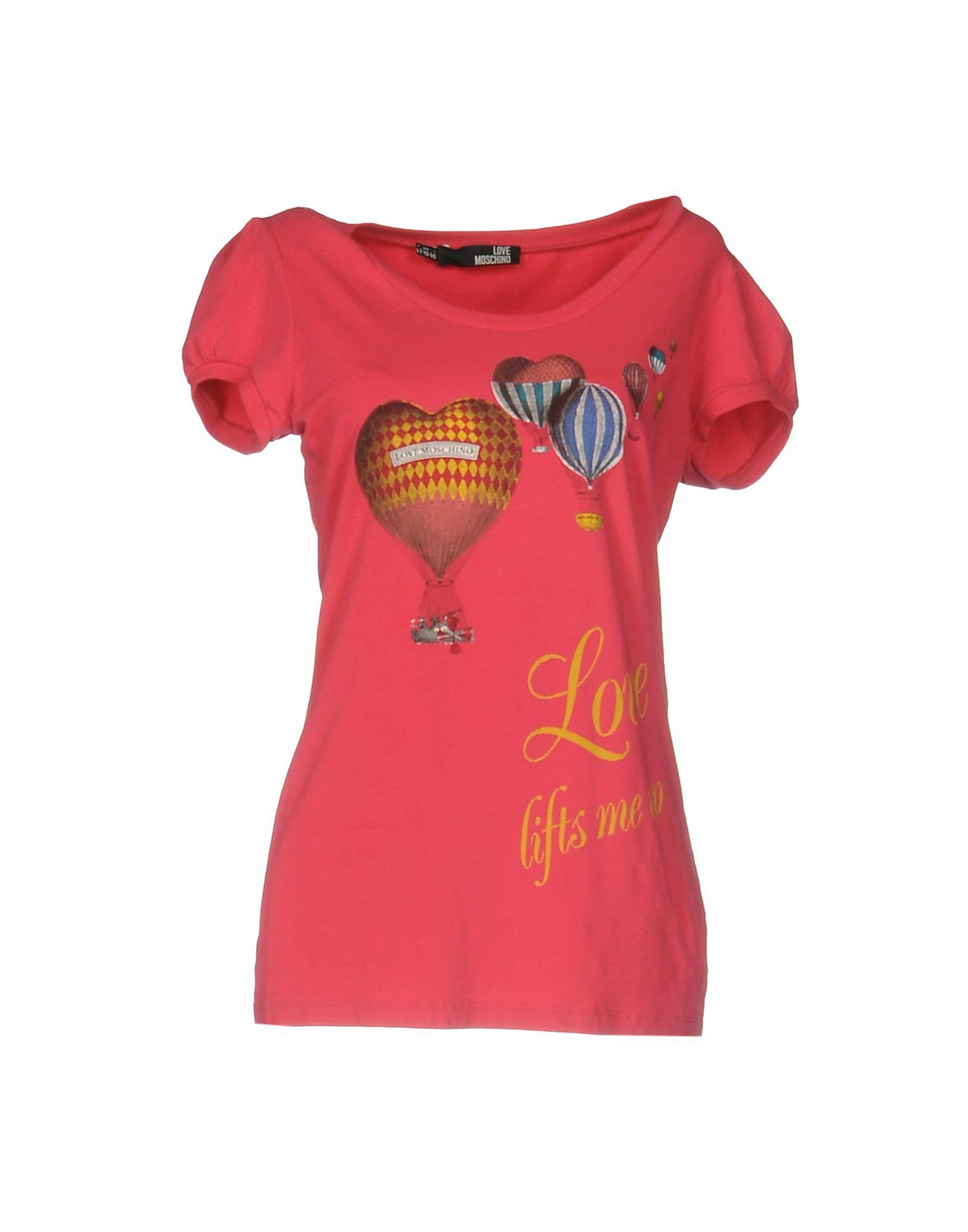 love moschino t shirt in pink lyst. Black Bedroom Furniture Sets. Home Design Ideas