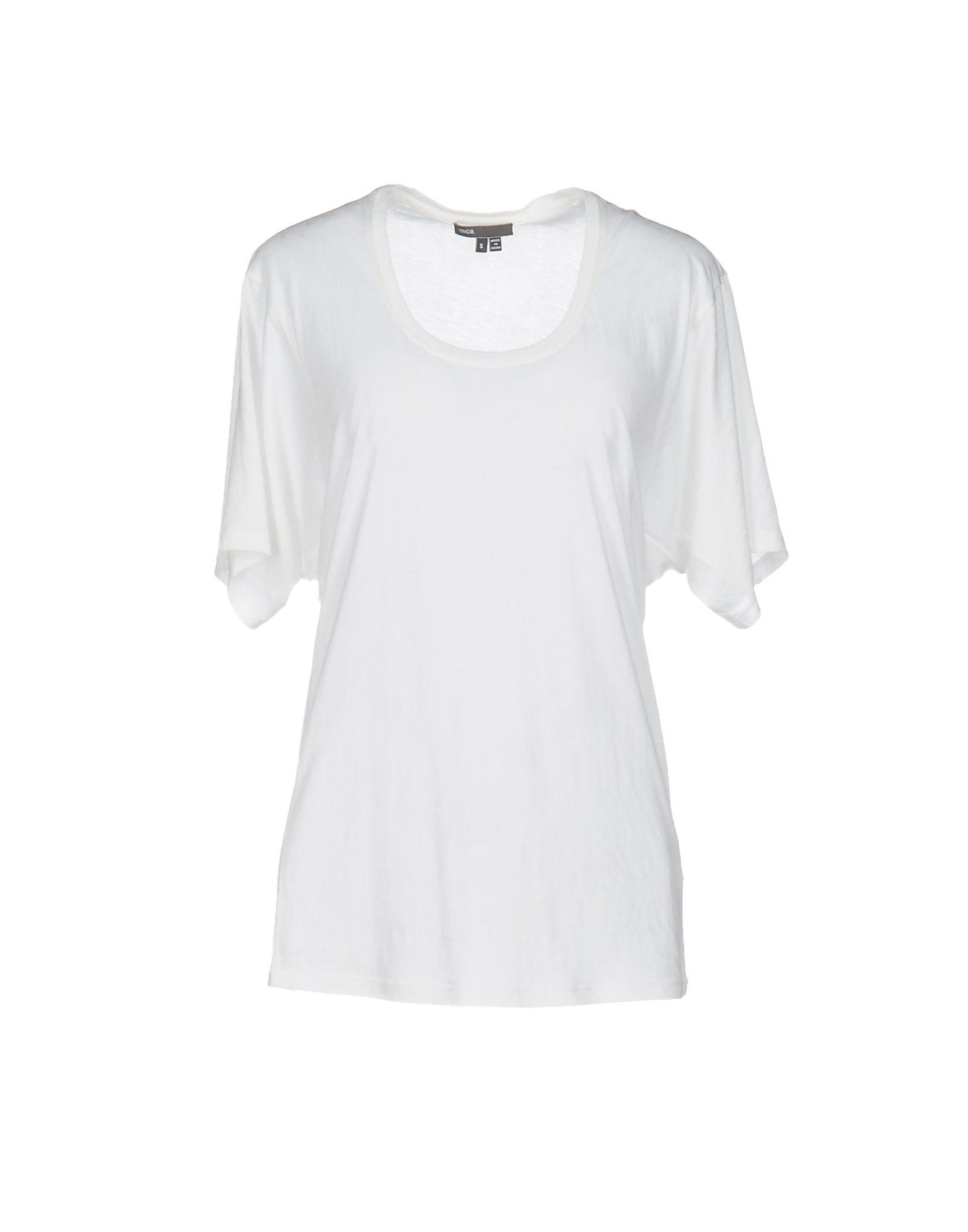 vince t shirt in white lyst