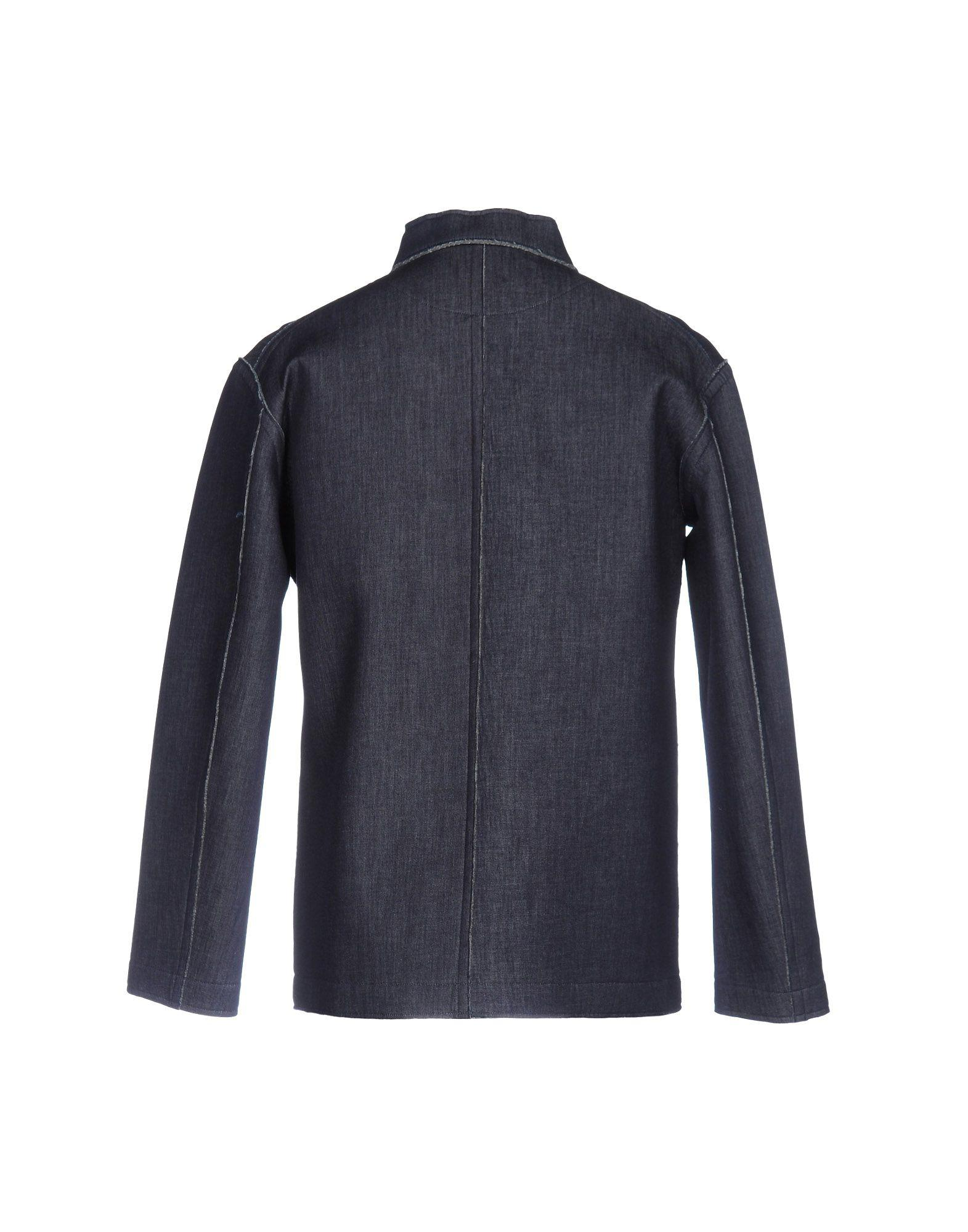 Julien David Neoprene Jacket in Dark Blue (Blue) for Men