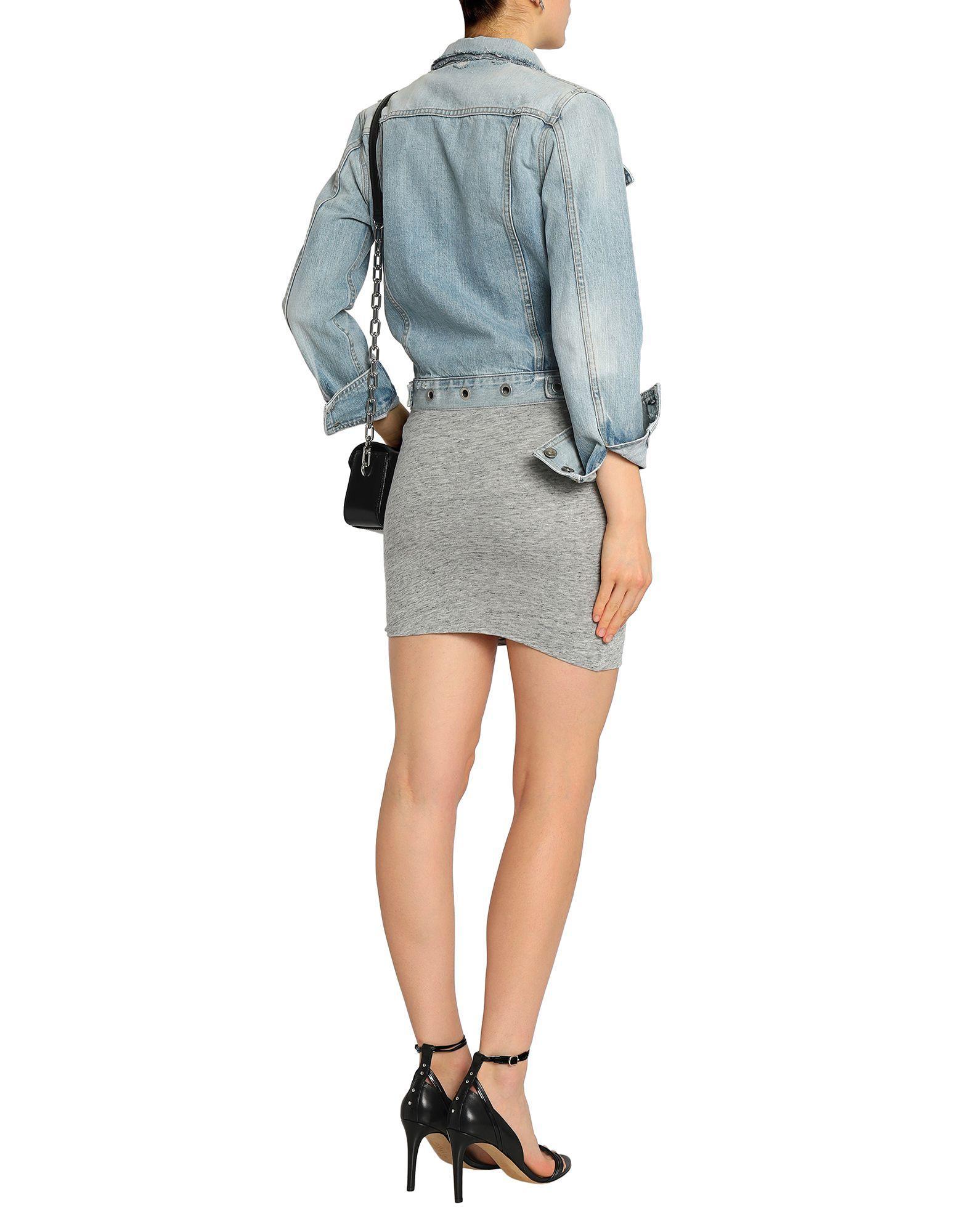 Falda corta IRO de Algodón de color Gris