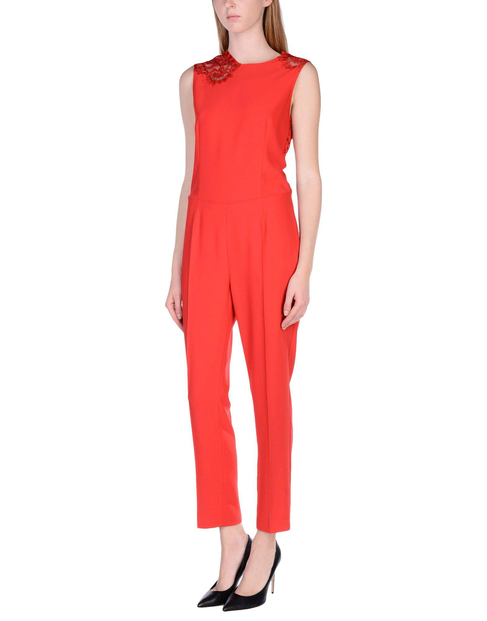 6a972fd28e8 Lyst - Ermanno Scervino Jumpsuit in Red