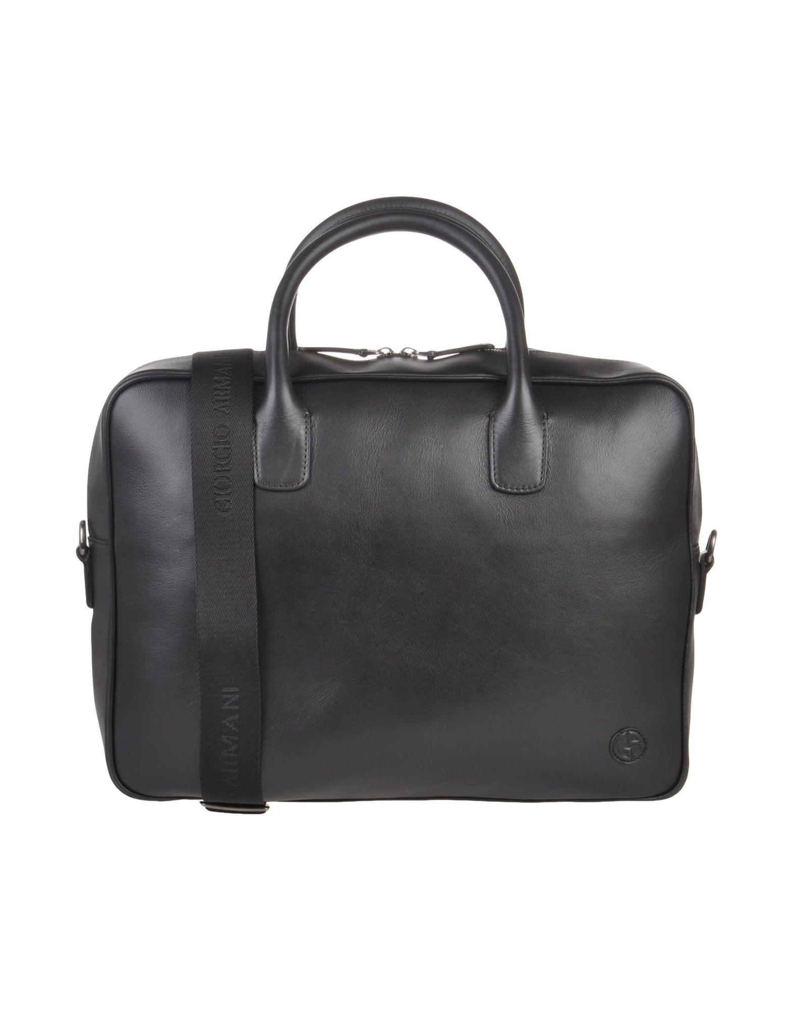 d727fa81f374 Lyst - Giorgio Armani Work Bags in Black for Men