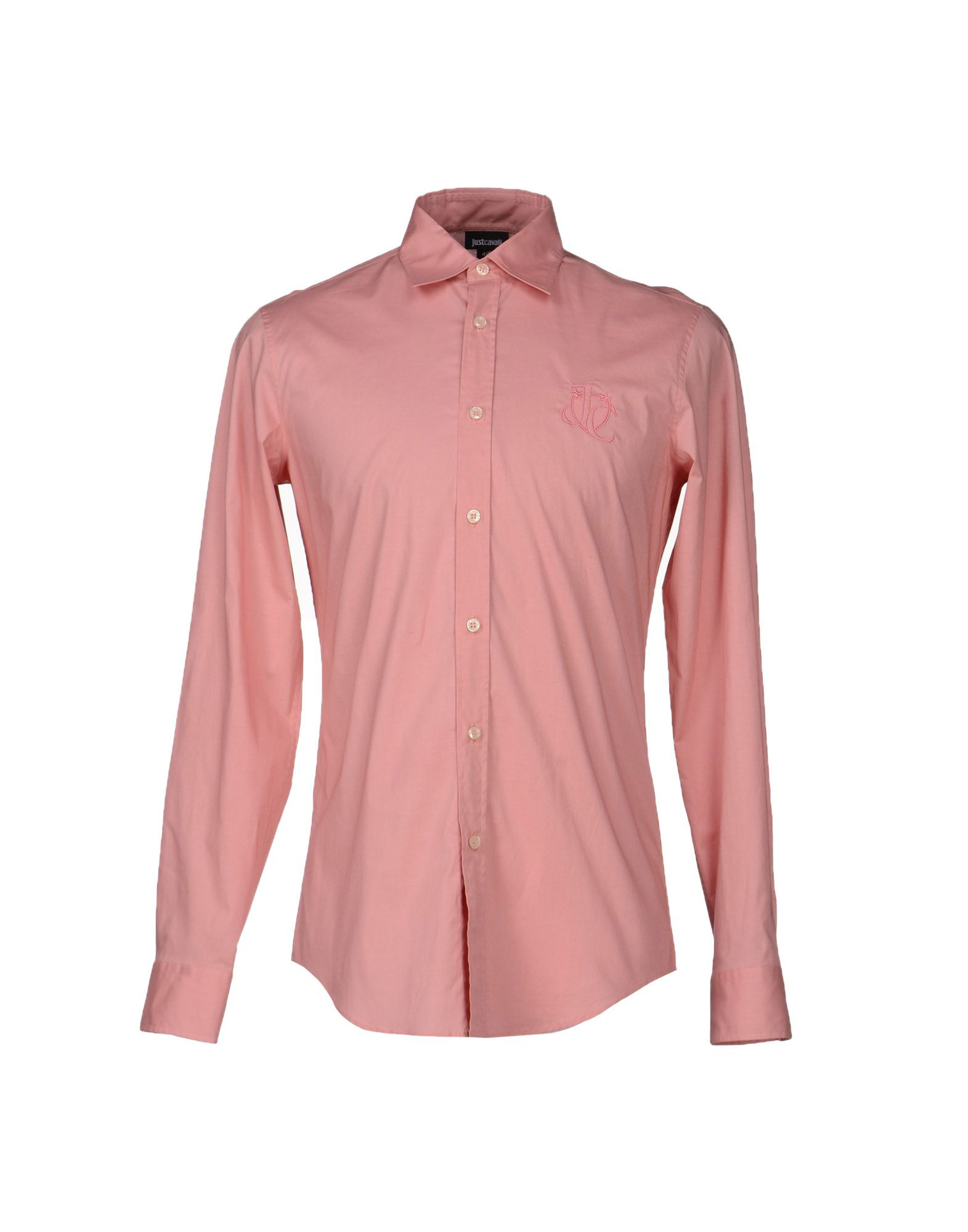Lyst just cavalli shirt in pink for men for Pastel pink dress shirt