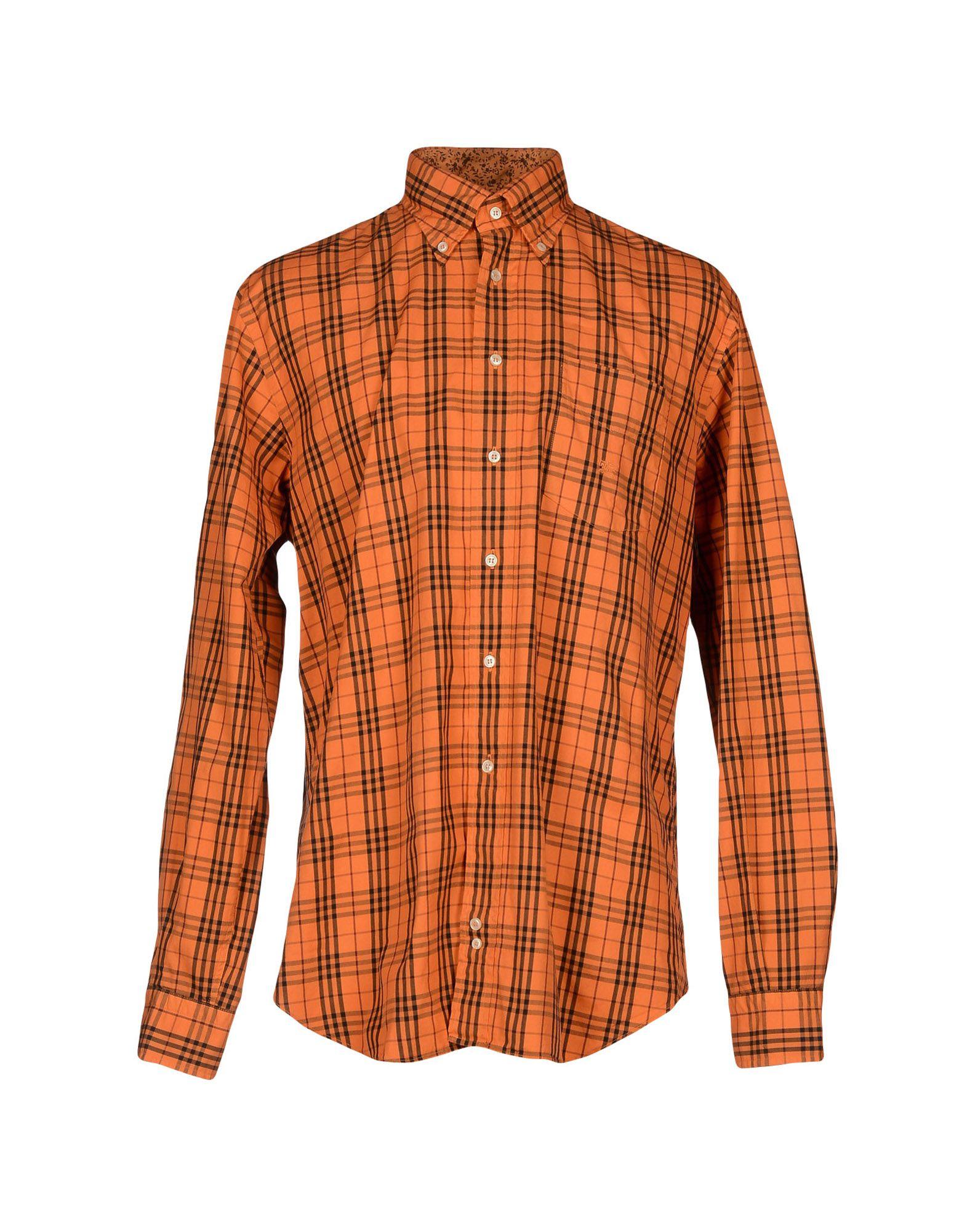 Burberry London Shirt In Orange For Men Lyst