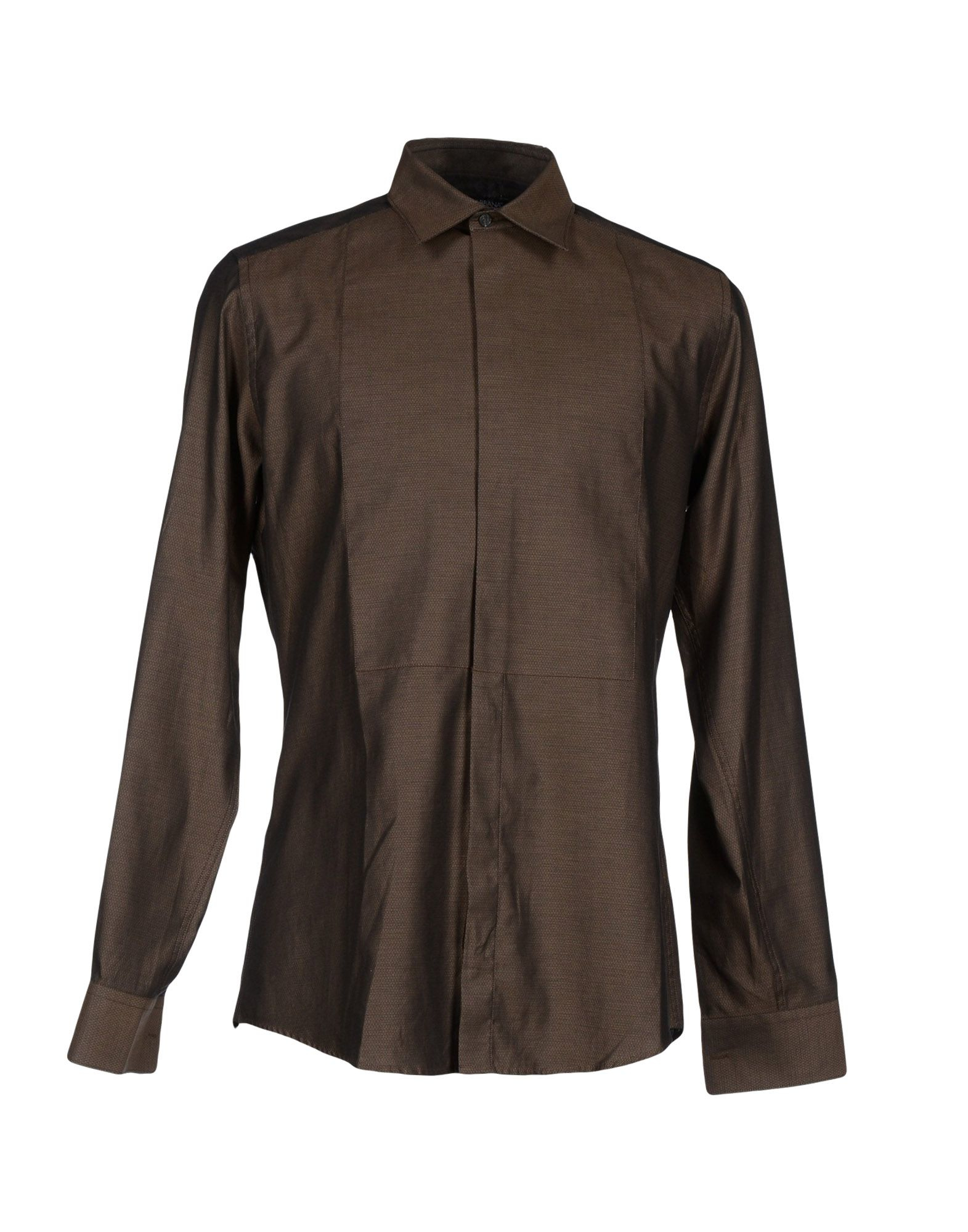 Dolce gabbana shirt in brown for men lyst for Black brown mens shirts