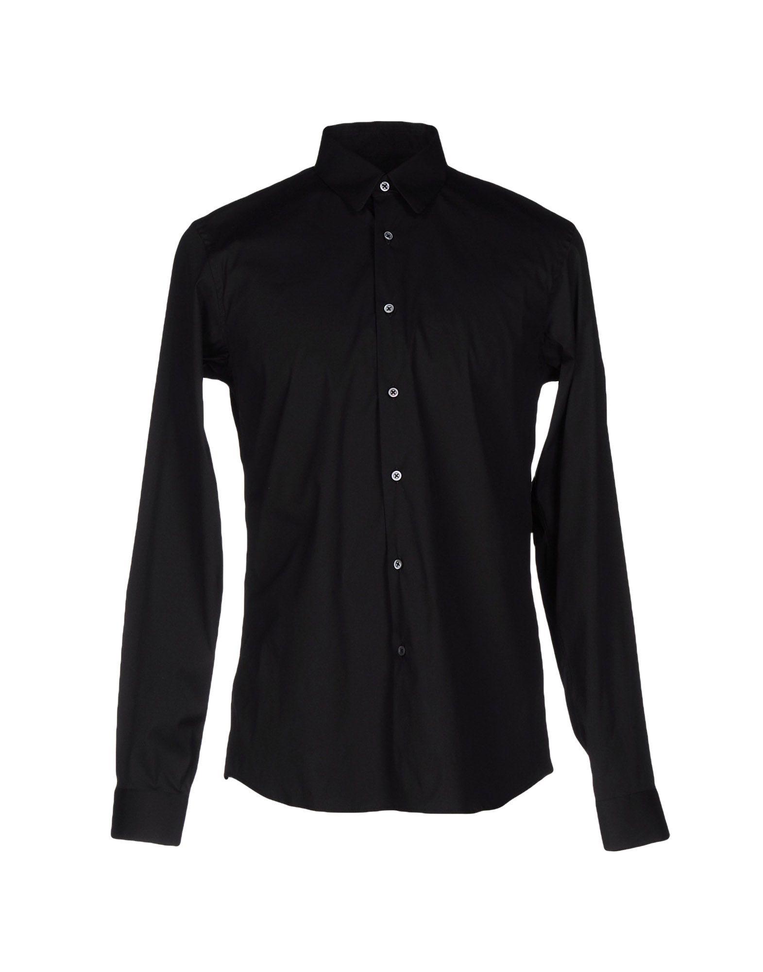Jil sander shirt in black for men lyst for Jil sander mens shirt