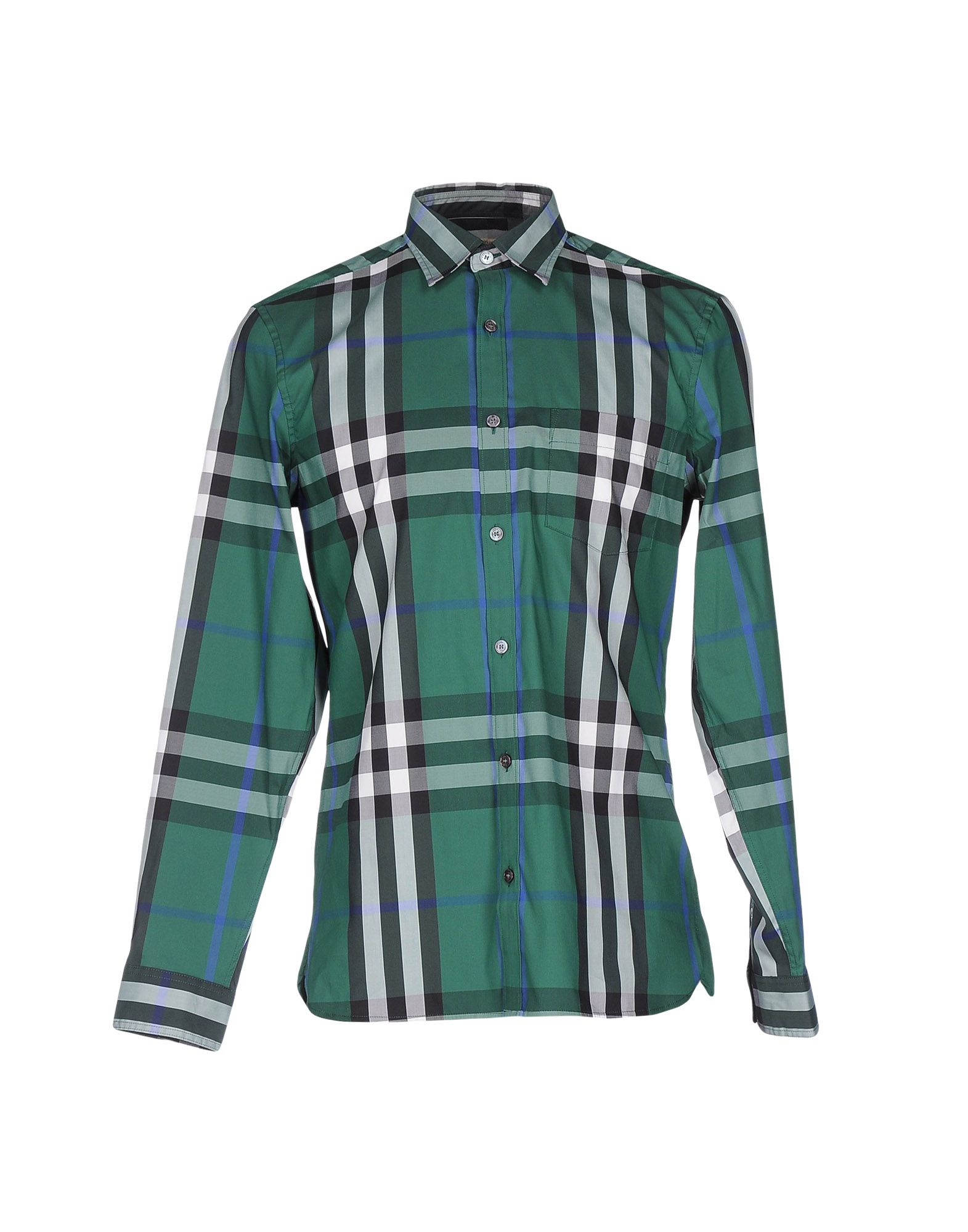 Lyst burberry brit shirt in green for men for Burberry brit green plaid shirt