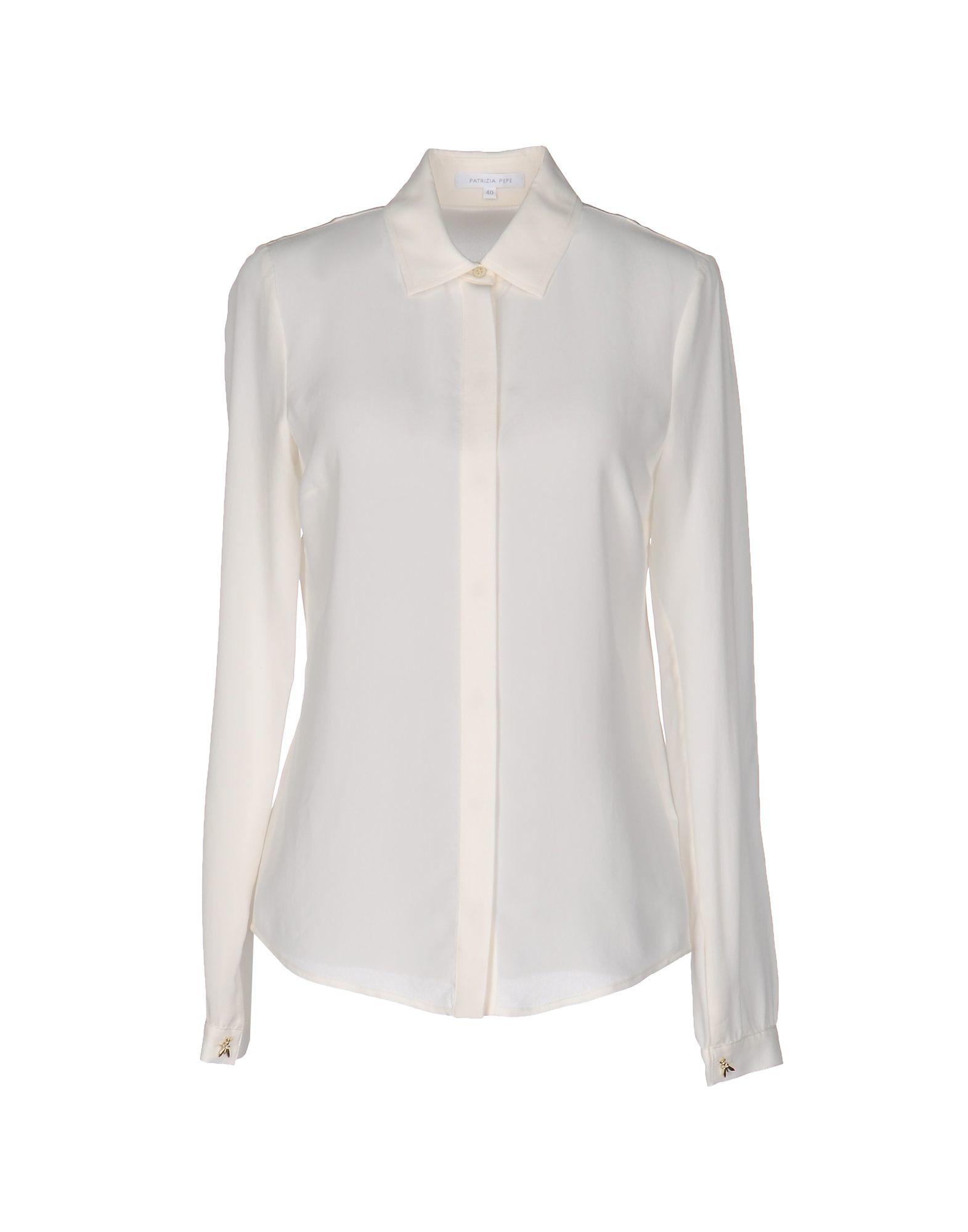 Patrizia Pepe Shirt In White Lyst