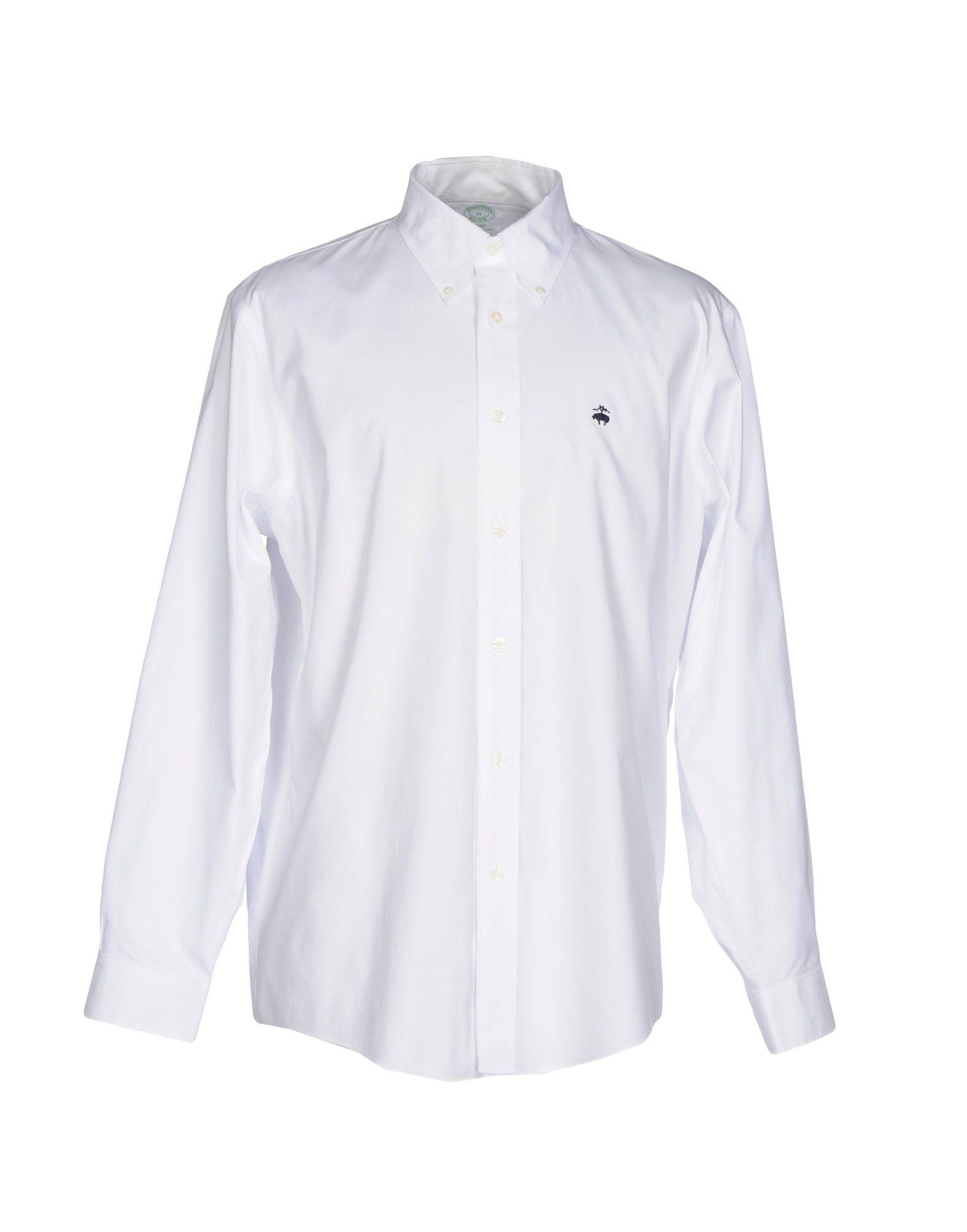 Lyst brooks brothers shirt in white for men for Brooks brothers custom shirt