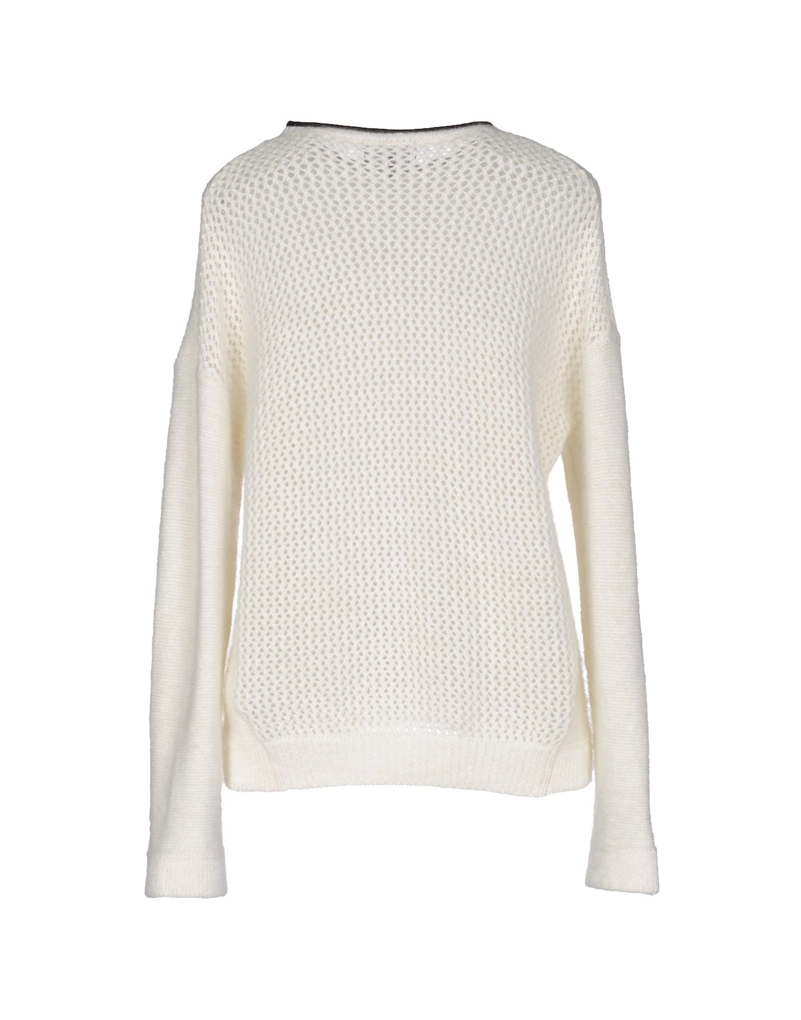 emporio armani sweater in white lyst. Black Bedroom Furniture Sets. Home Design Ideas