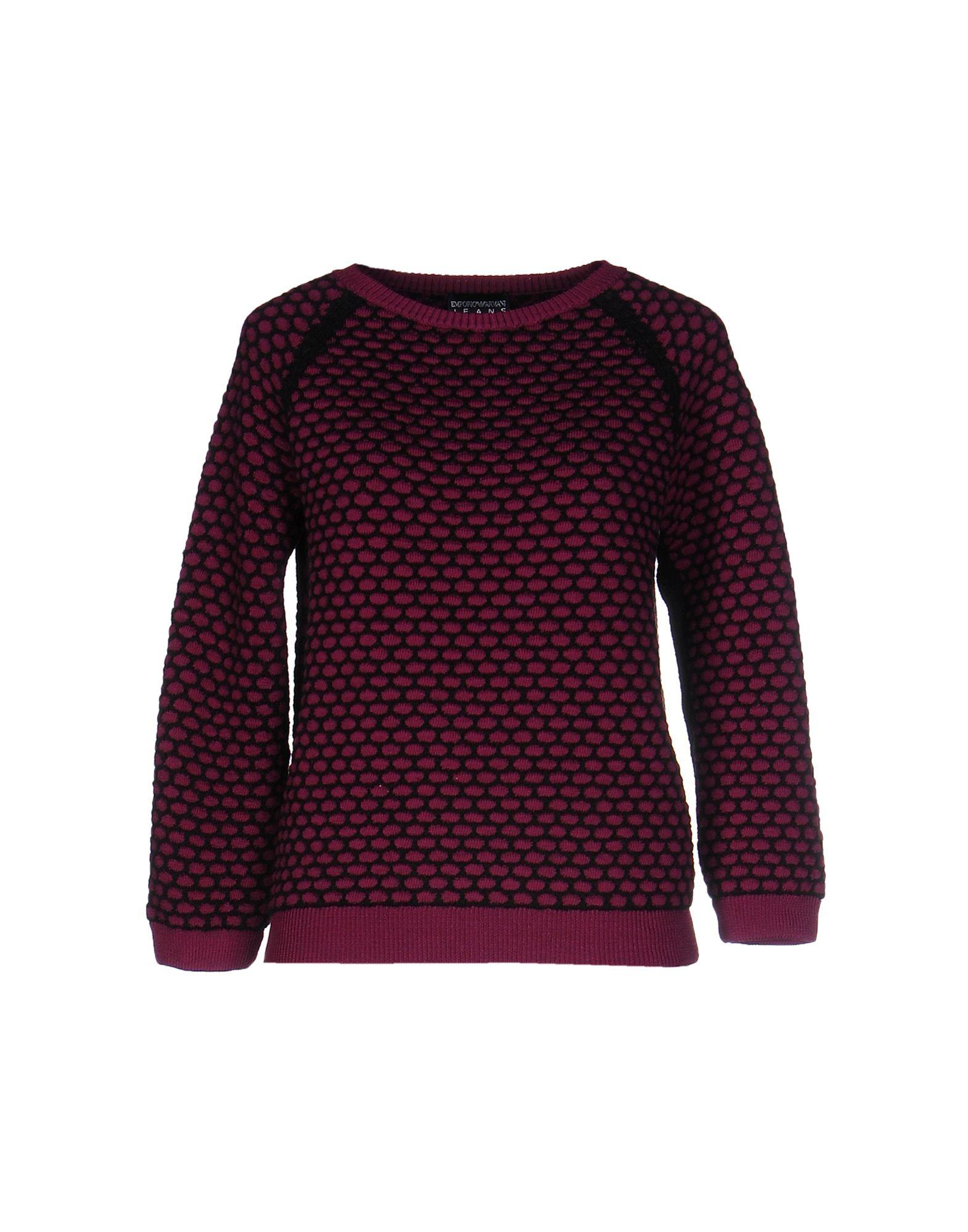 emporio armani sweater in purple lyst. Black Bedroom Furniture Sets. Home Design Ideas