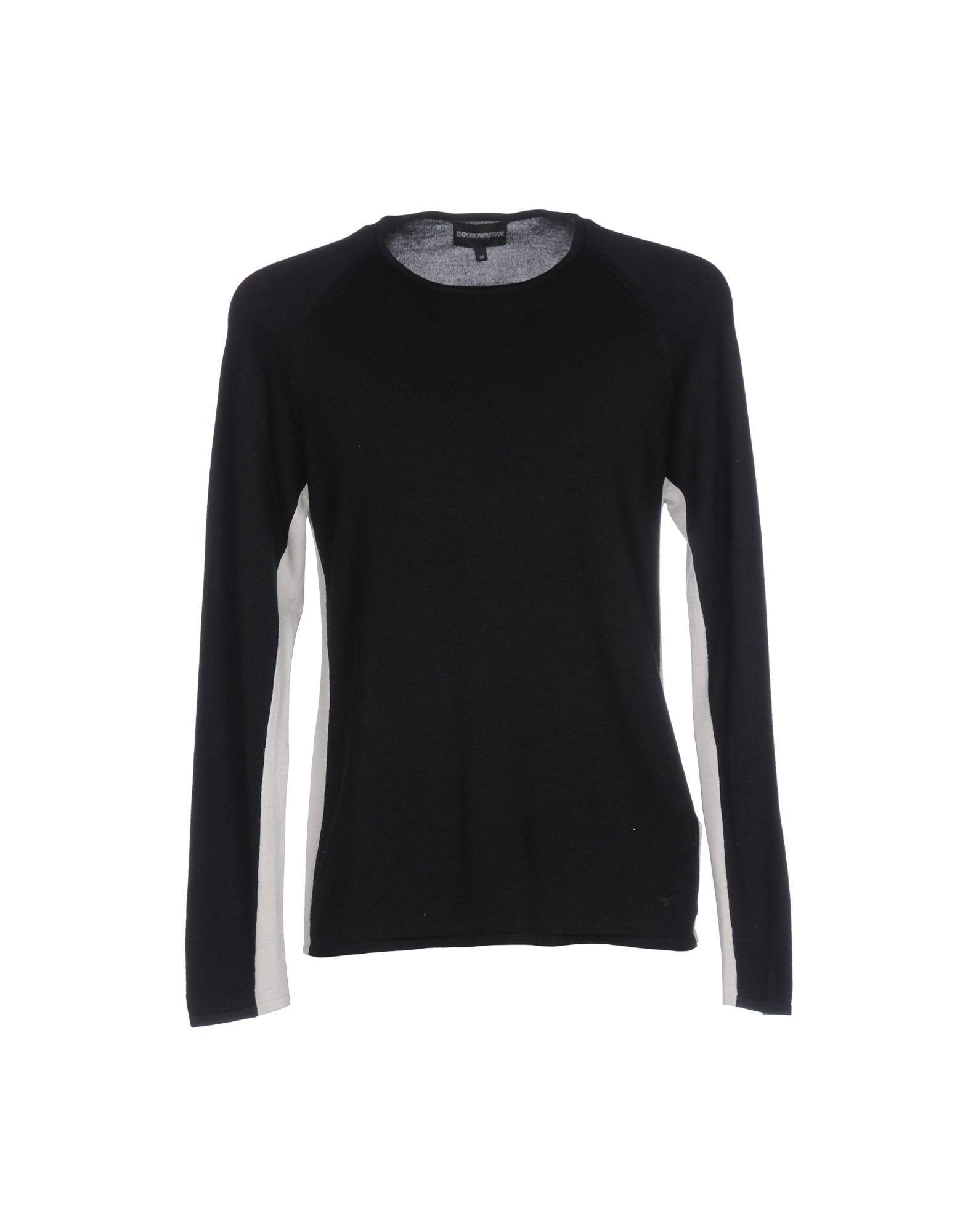 emporio armani sweater in black for men lyst. Black Bedroom Furniture Sets. Home Design Ideas
