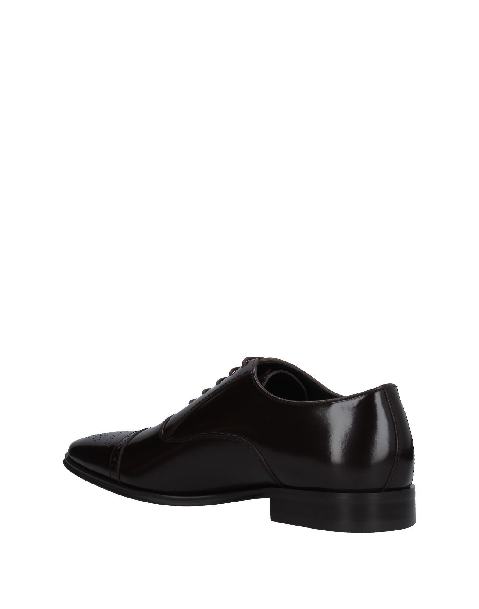 Versace Leather Lace-up Shoe in Dark Brown (Brown) for Men