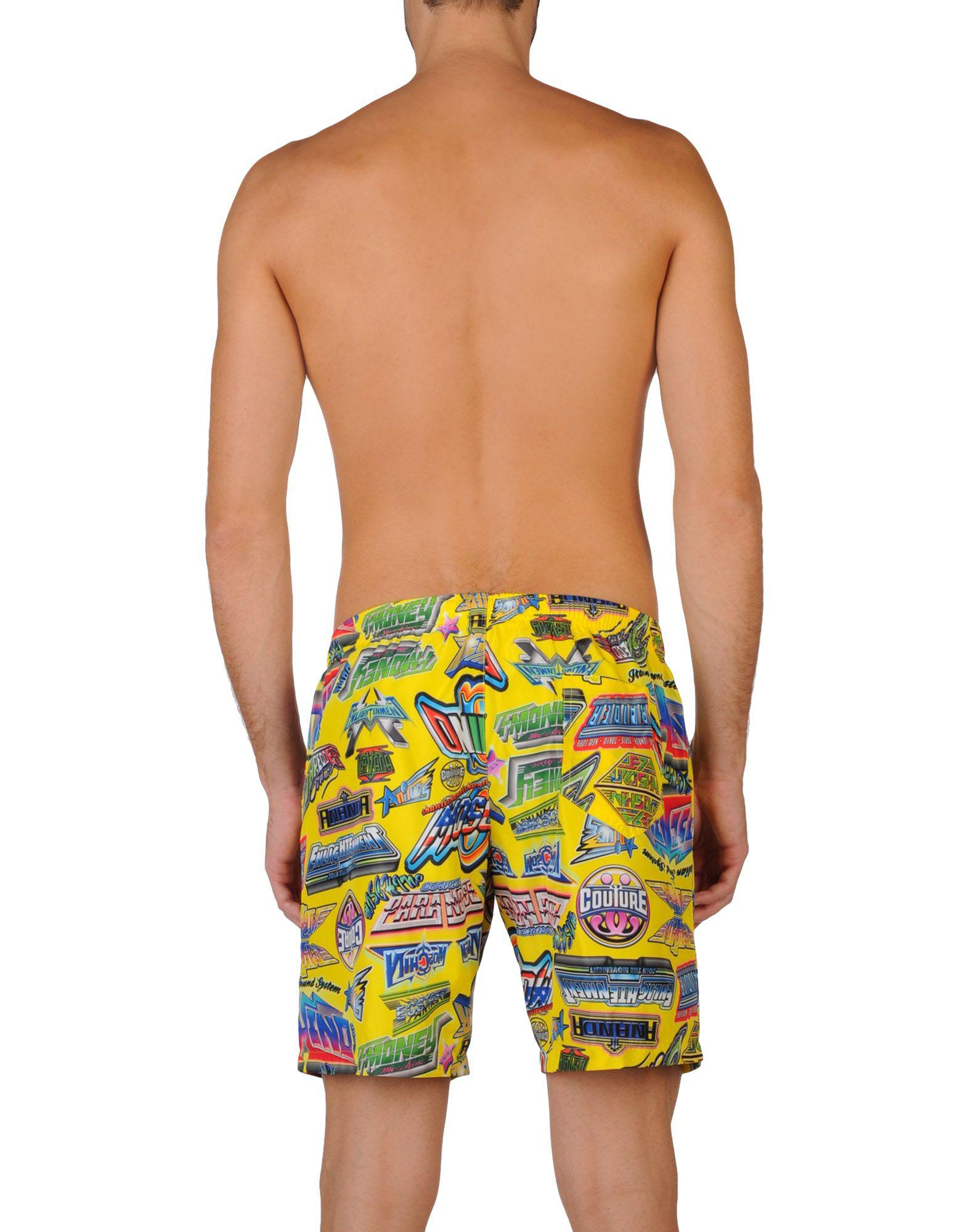 52cf650fe9 Lyst - Moschino Swimwear For Men in Yellow for Men - Save 6%