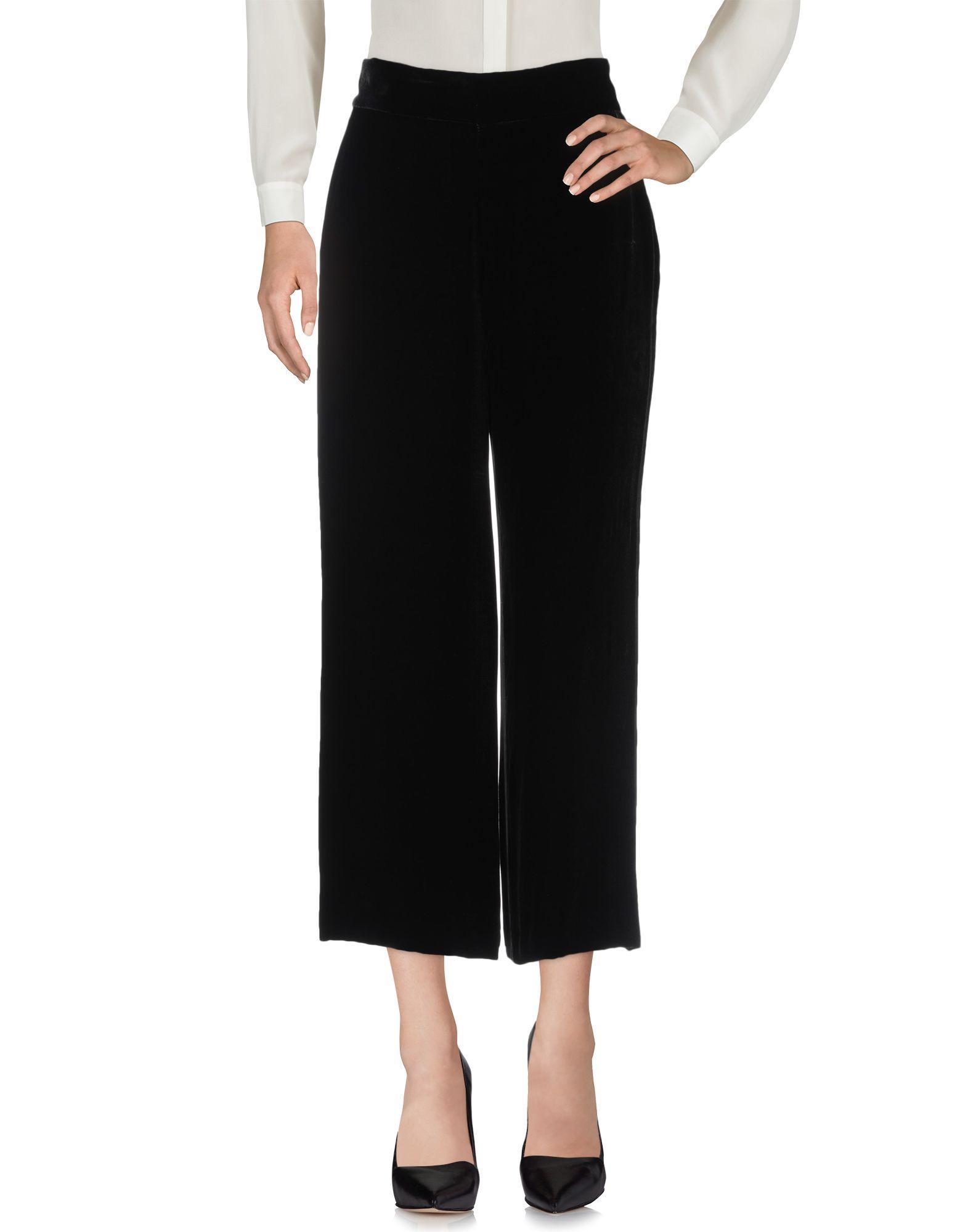 Pantalones Clips de Terciopelo de color Negro