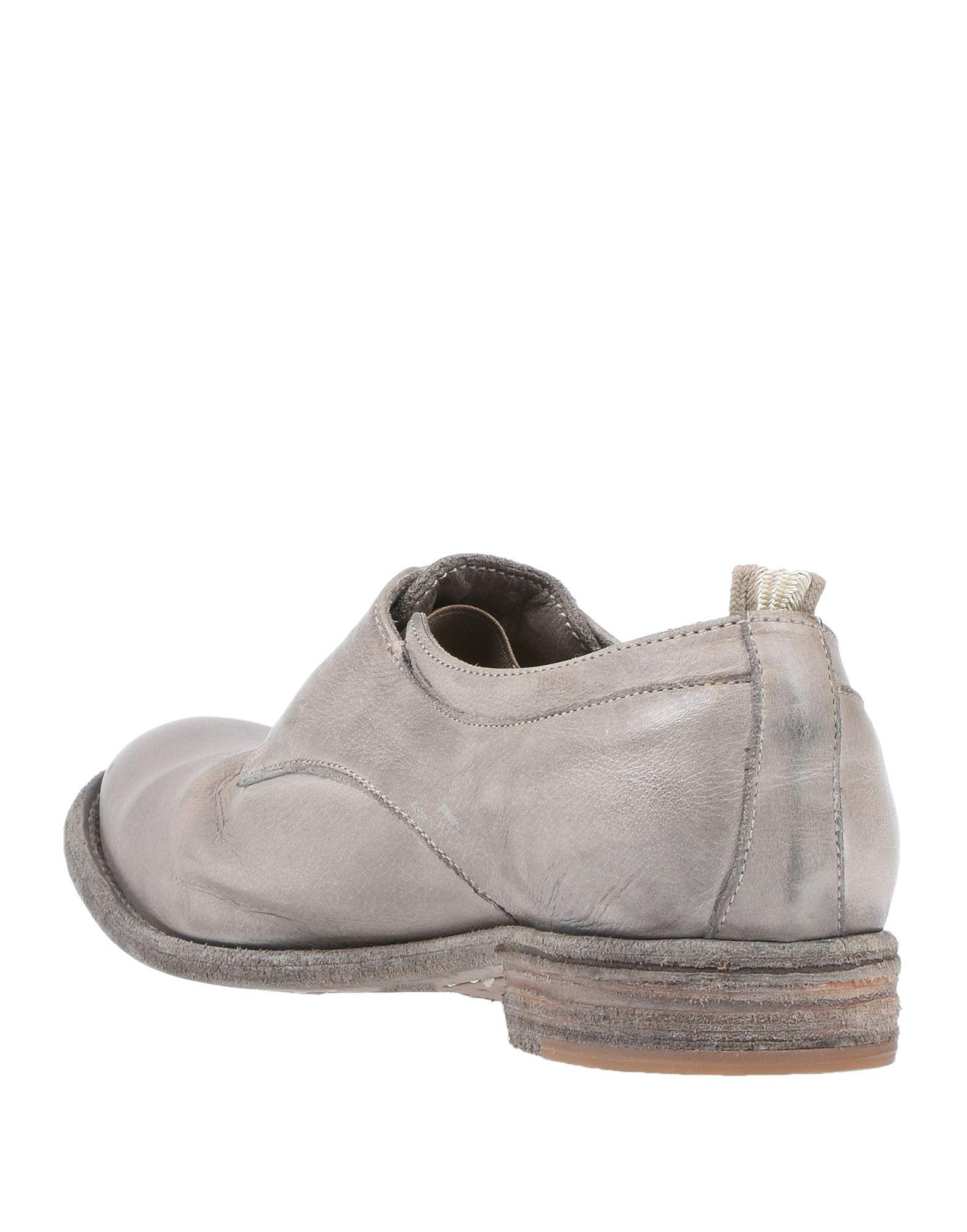 Zapatos de cordones Officine Creative de Cuero de color Gris