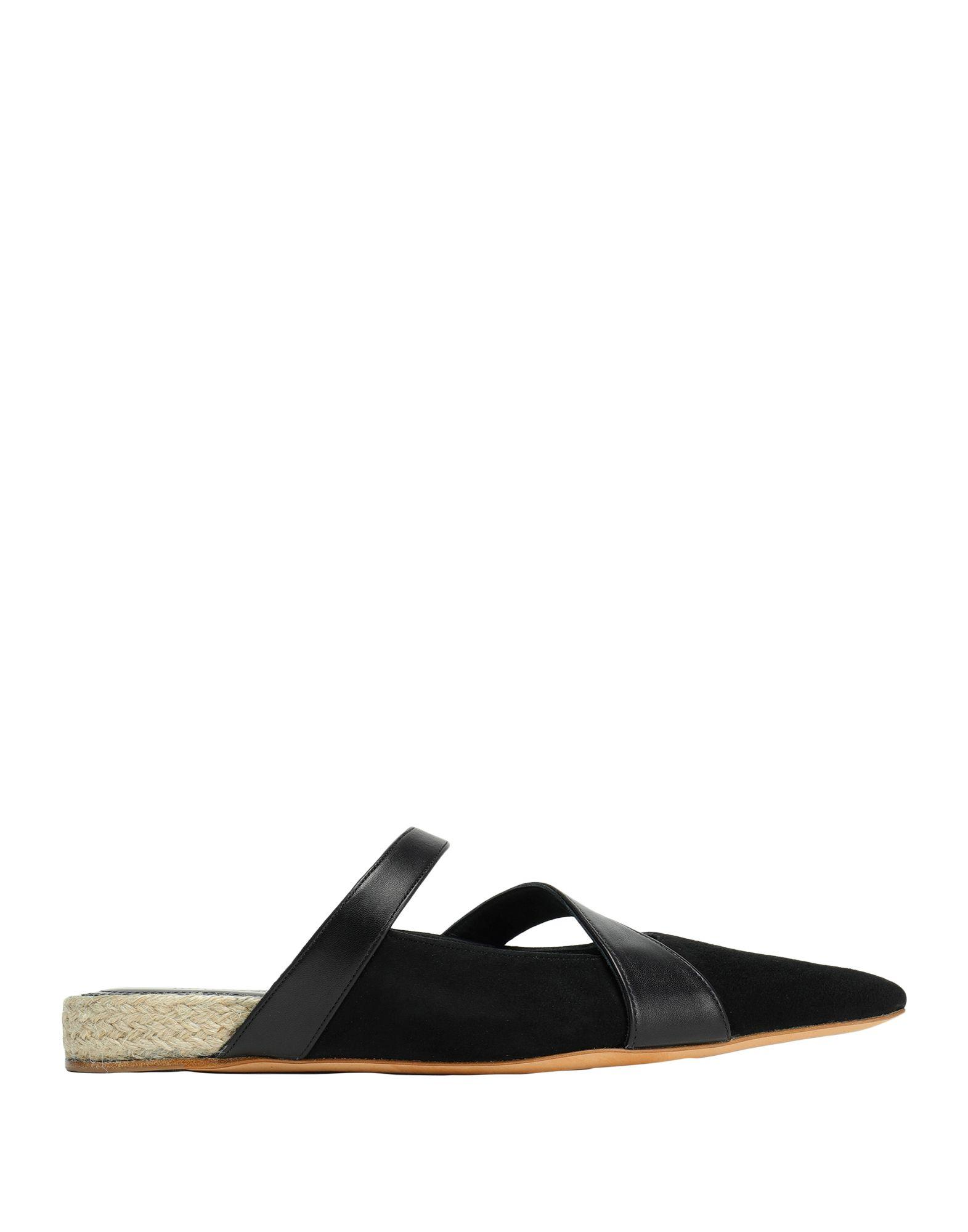 JW Anderson Leather Loafer Mules in Black - Lyst