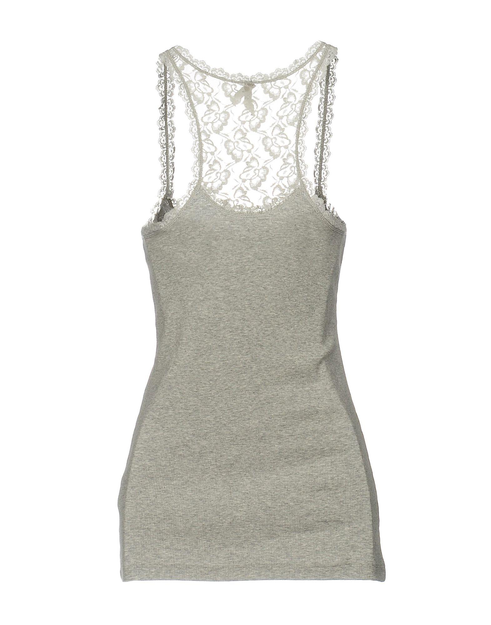 Pepe Jeans Lace Tank Top in Light Grey (Grey)