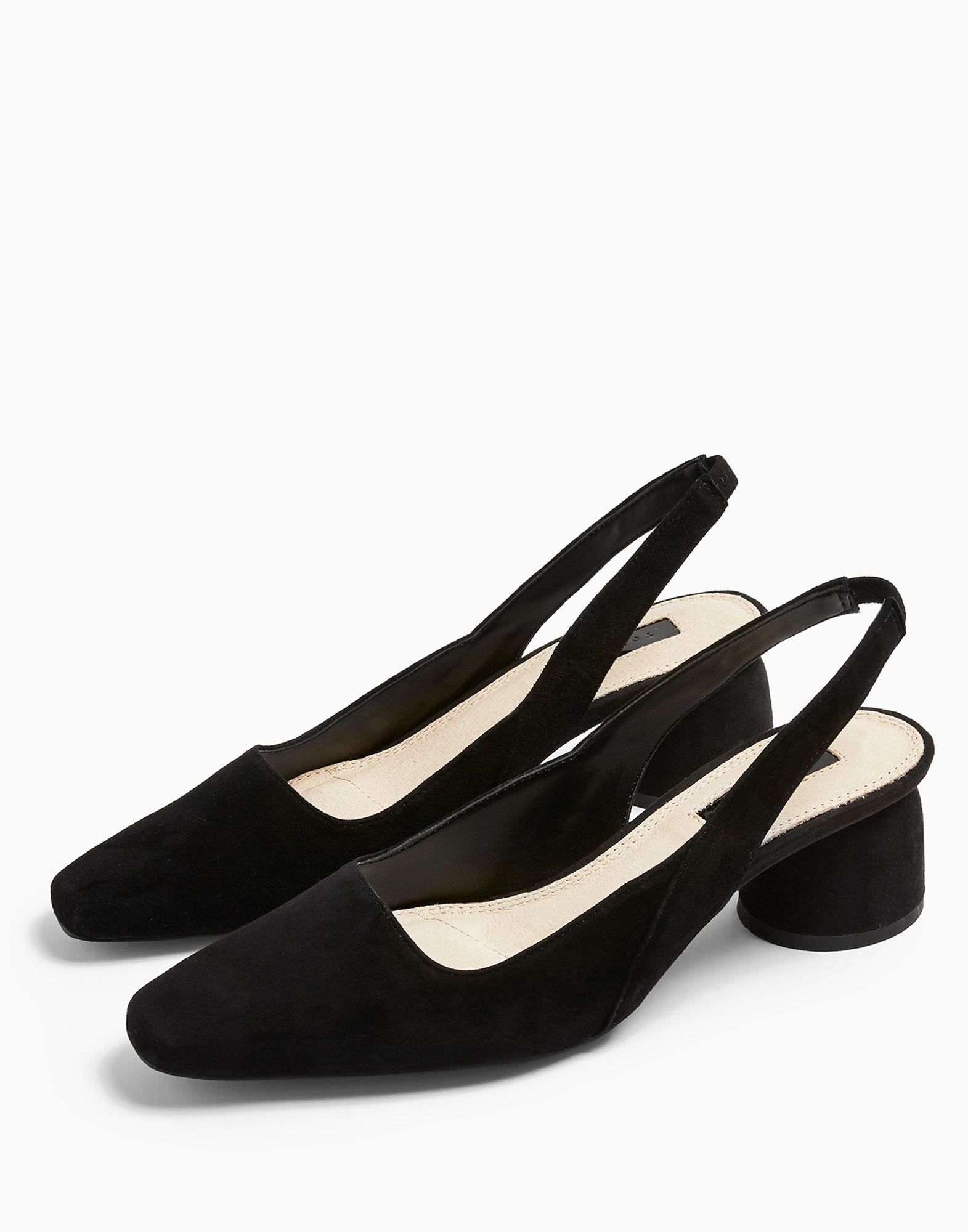 Zapatos de salón TOPSHOP de Ante de color Negro