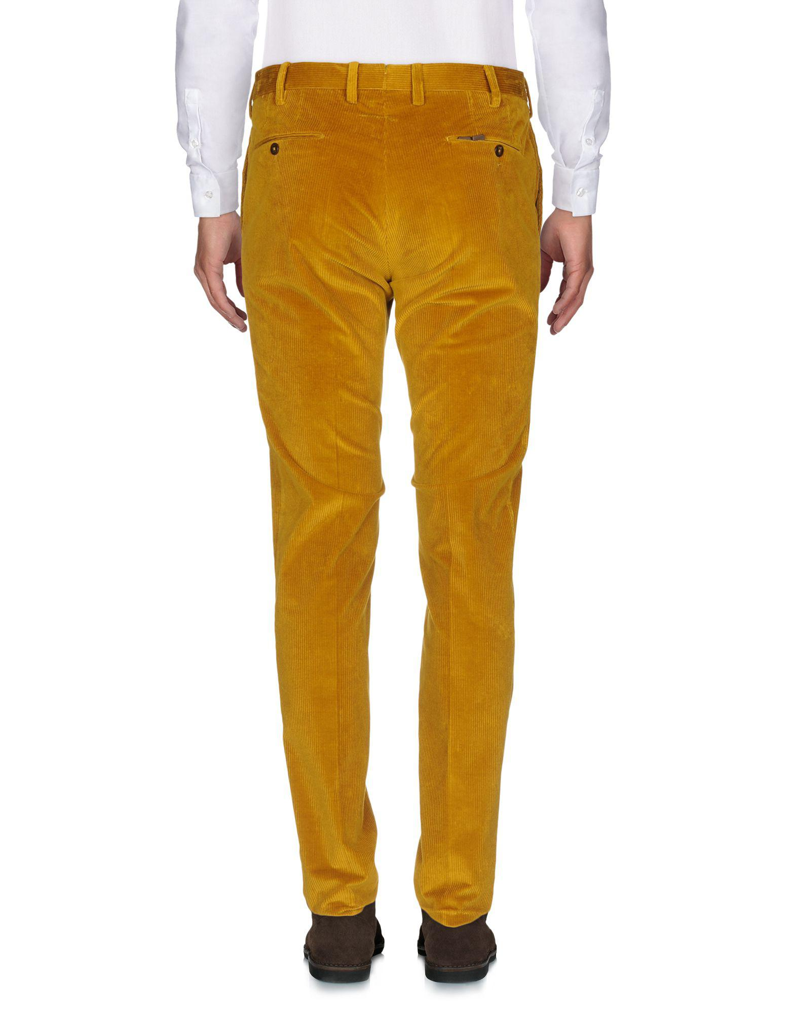 PT Torino Corduroy Casual Trouser in Yellow for Men
