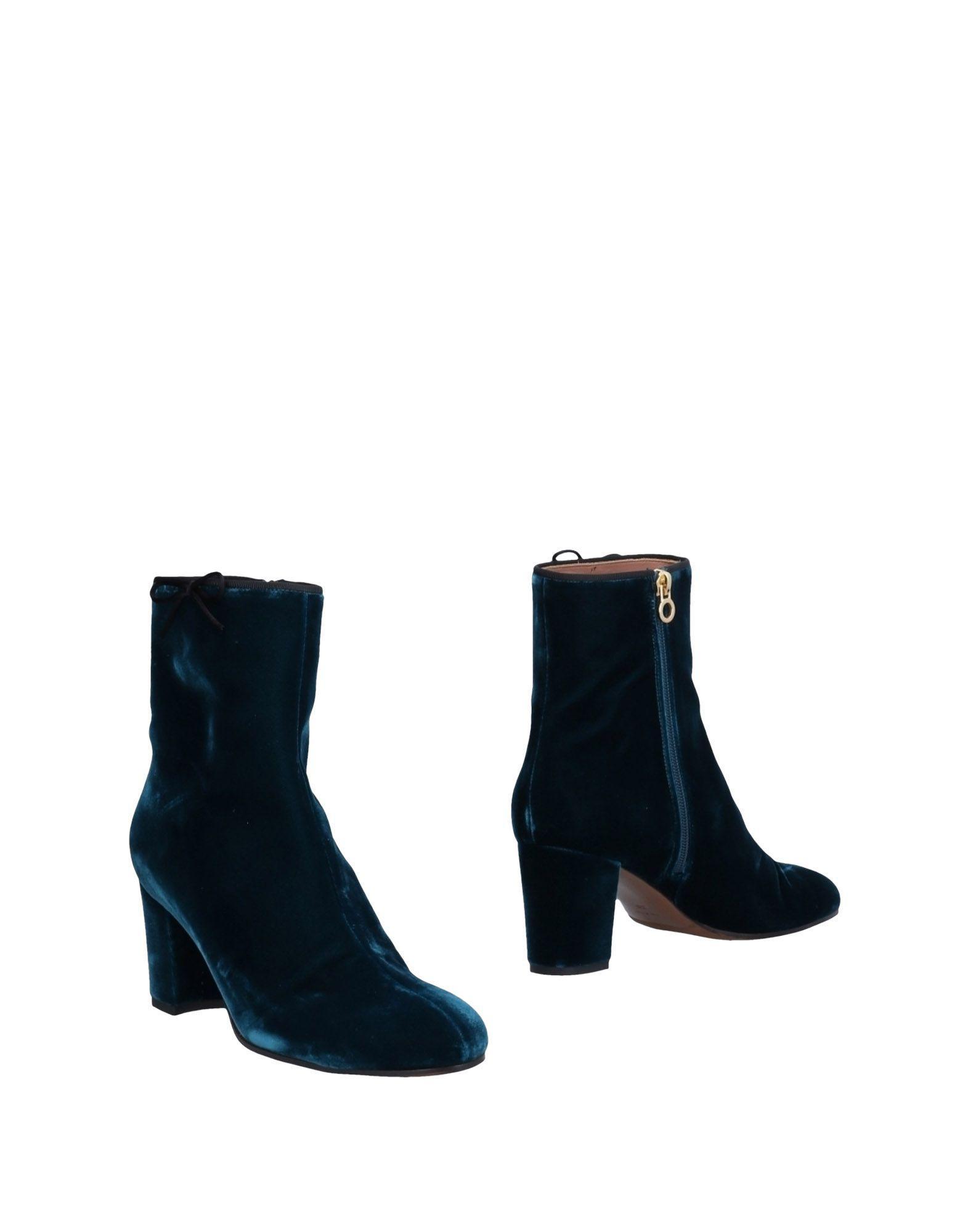 L Autre Chose. Botines de caña alta de mujer de color azul 18eb63d1b5075