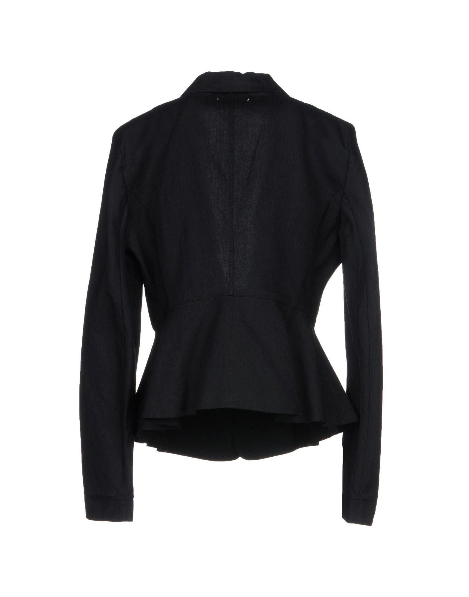 Veste Lin Forte Forte en coloris Noir